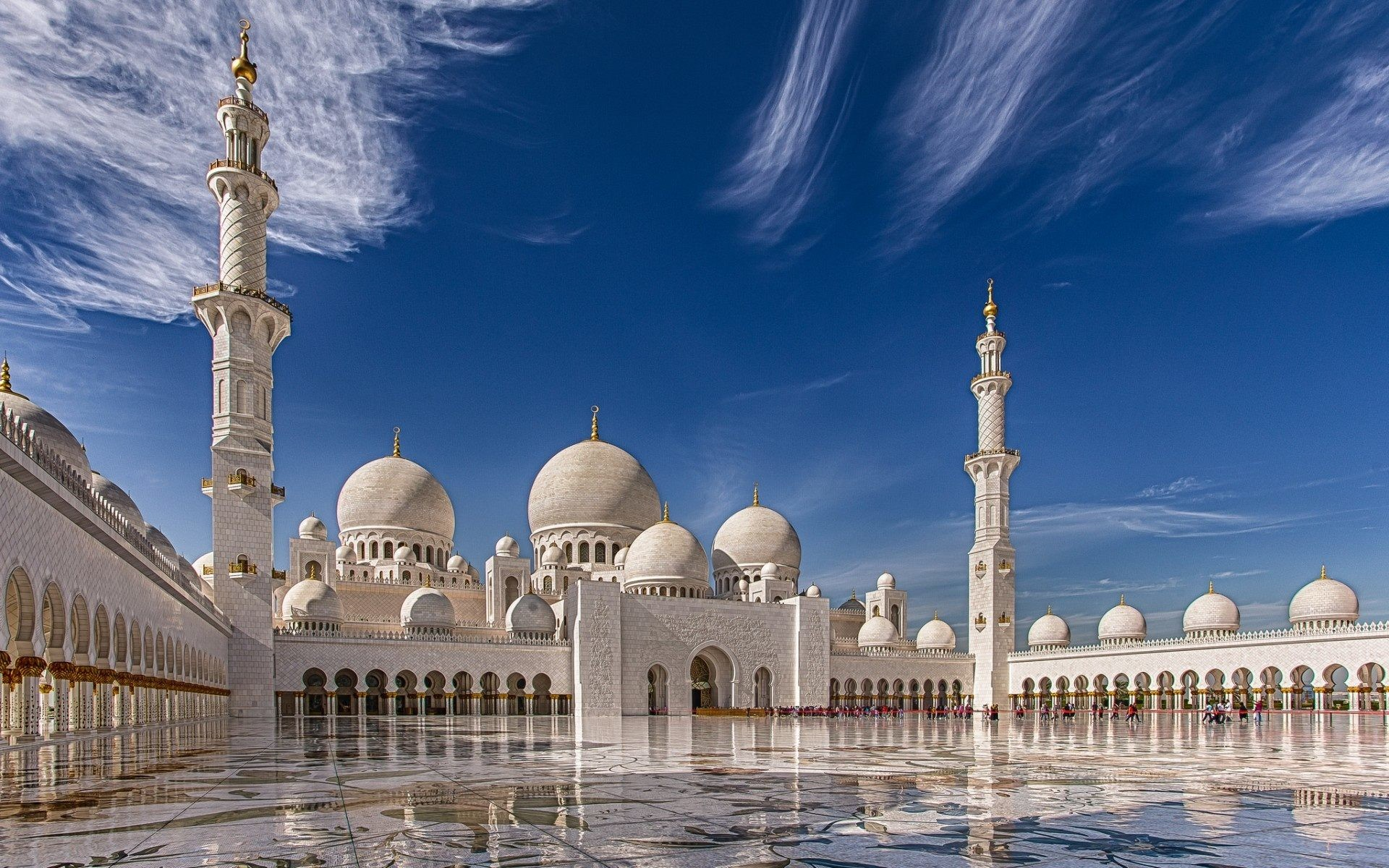 1920x1200 full HD Sheikh Zayed Grand Mosque Abu Dhabi Desktop wallpaper download free  for Widescreen, Mobile