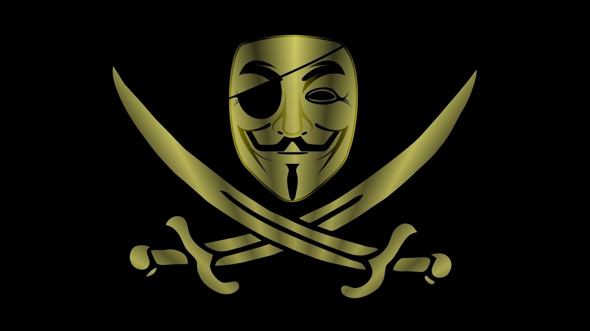 1920x1080 Anonymous on pirate flag
