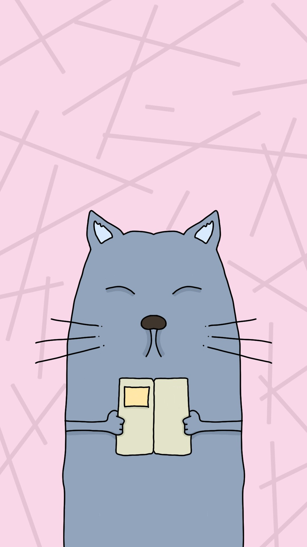 1080x1920 Smart cat #wallpaper #phone #iphone #vector #cartoon #drawing #grunge