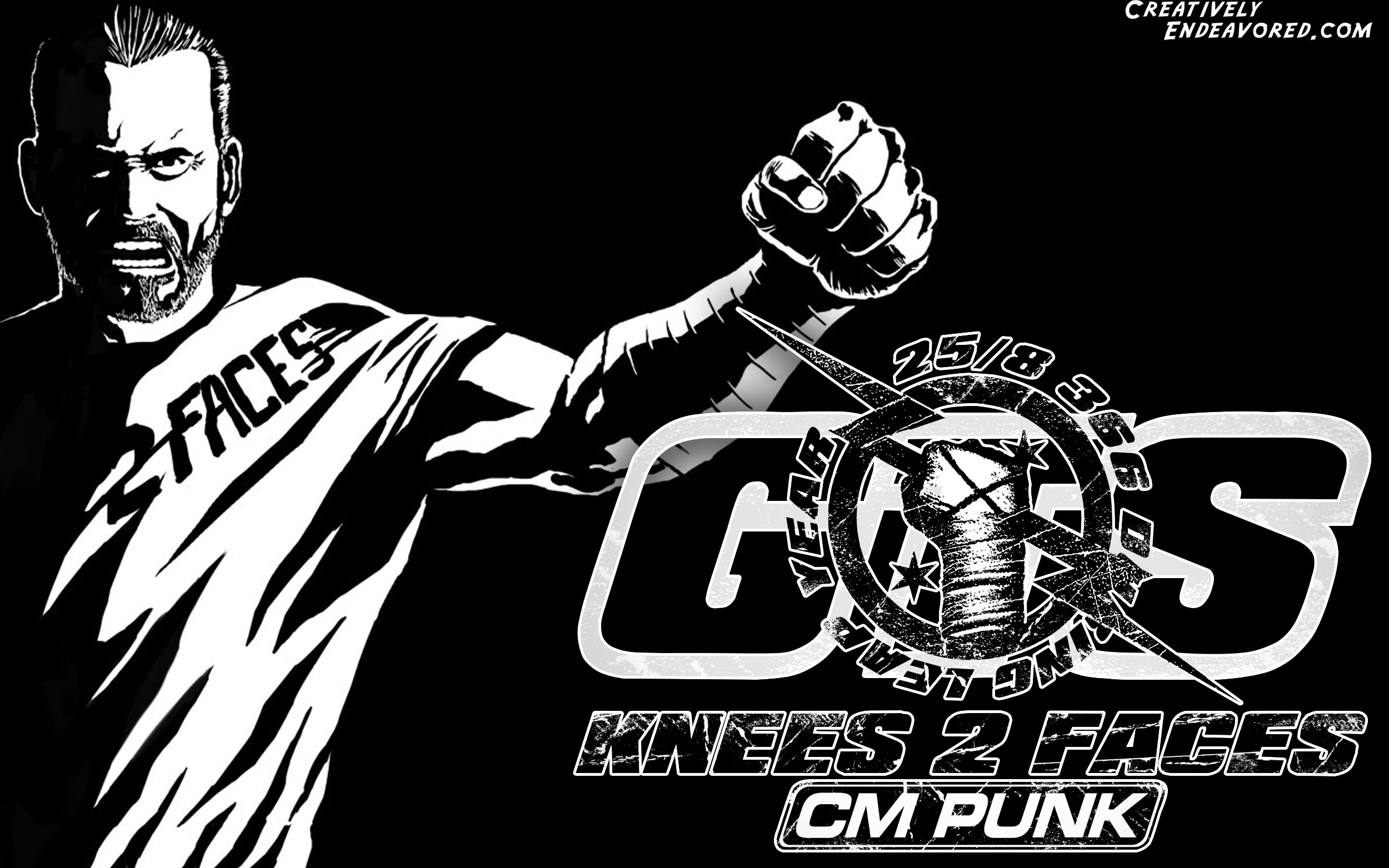2500x1563 CM Punk 'It's Clobberin' Time' Wallpaper