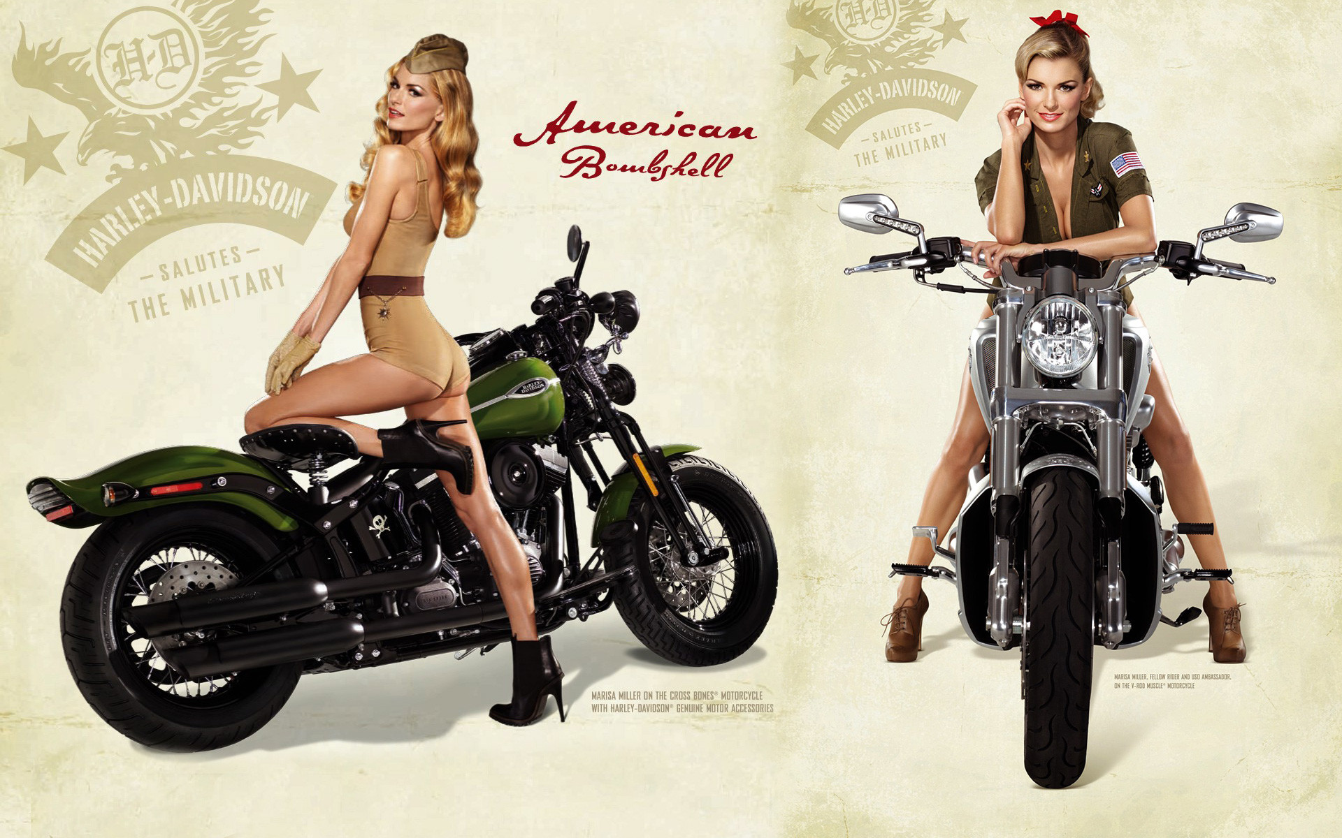 1920x1200 Pin Up Girl Cafe Racer Wallpaper -- Hot Sexy Blonde On Harley Davidson .