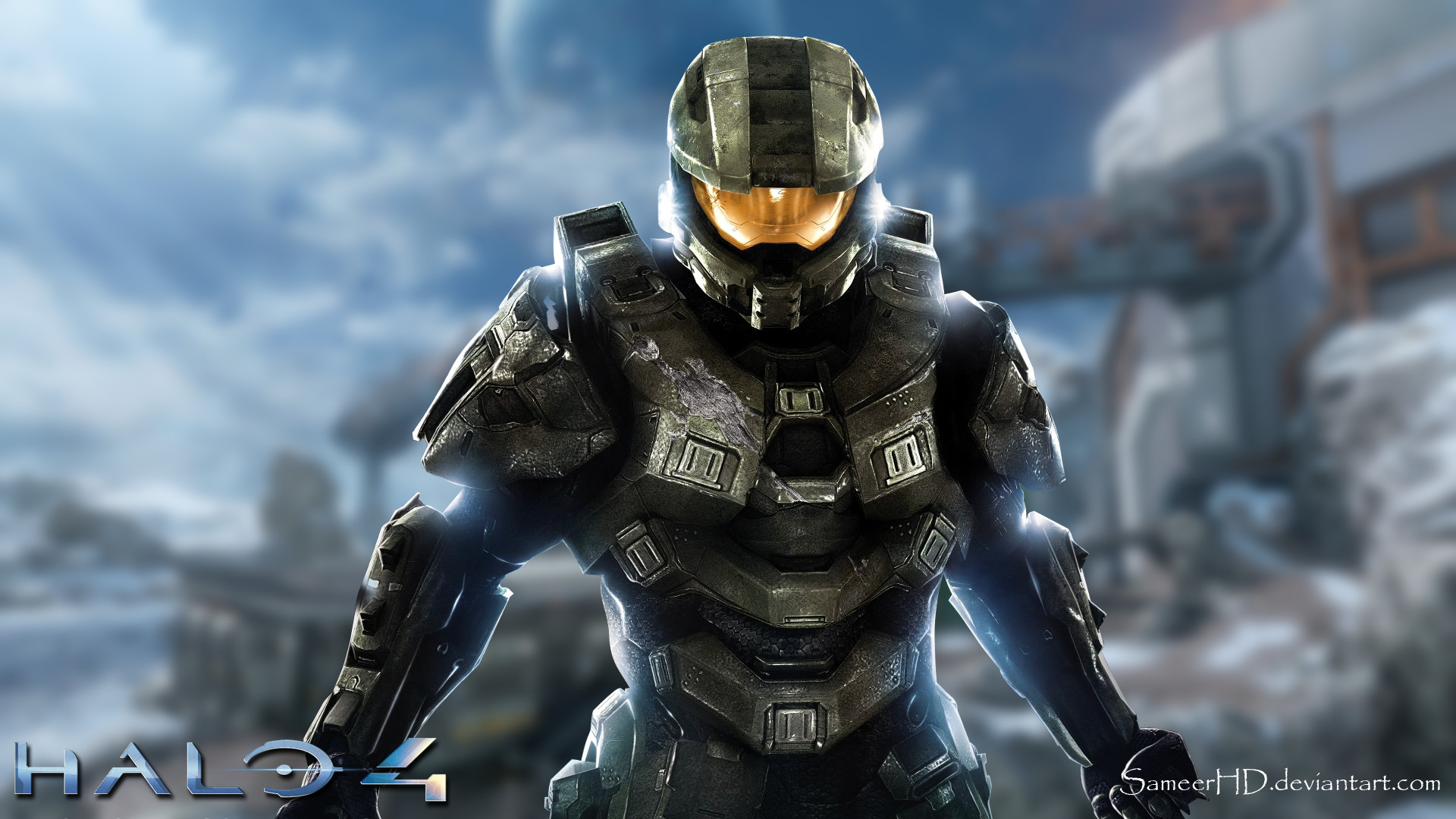 1920x1080 ... Halo 4 Master Chief Wallpaper by SameerHD