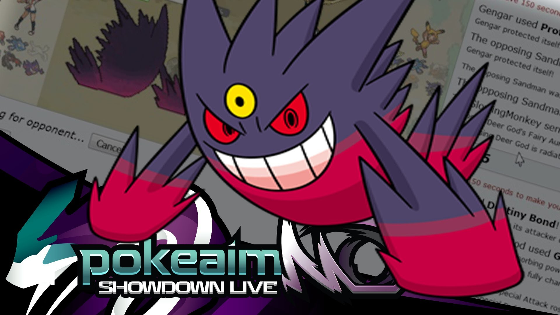 "1920x1080 Pokemon |OR/AS| Ubers Showdown Live w/ PokeaimMD! - Ep 17: ""Trap Music ft. Mega  Gengar!"""