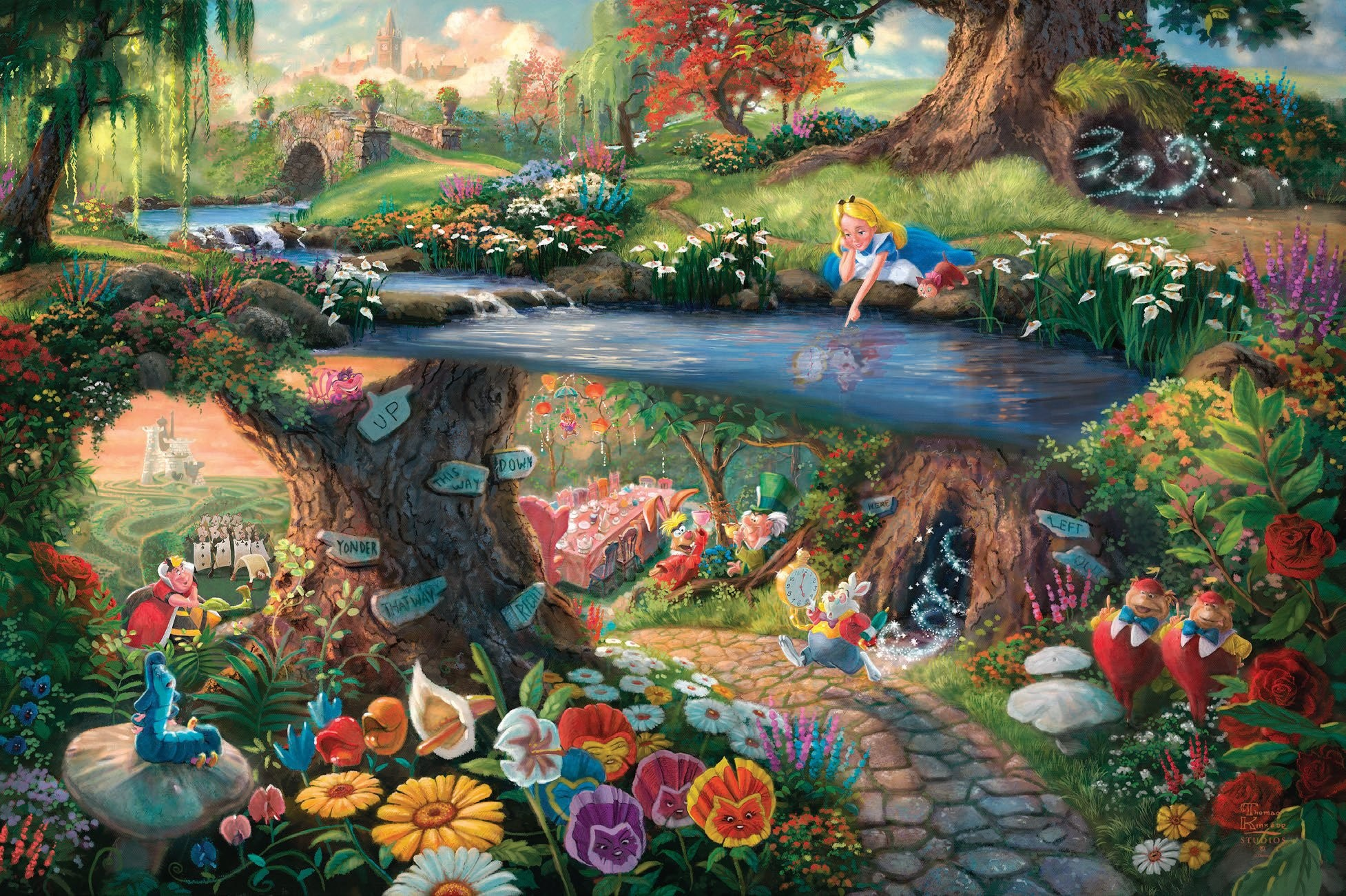 Alice In Wonderland Cartoon Wallpaper 61 Images