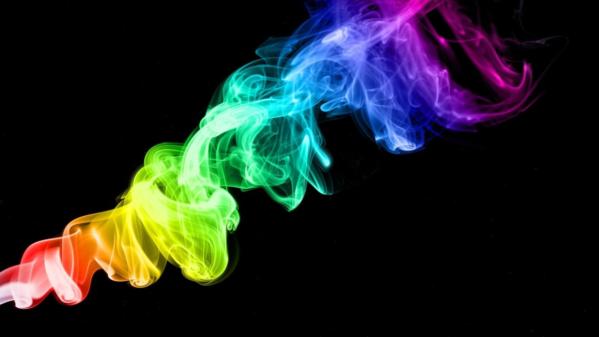 1920x1080 Photo Collection Neon Rainbow Smoke 21393