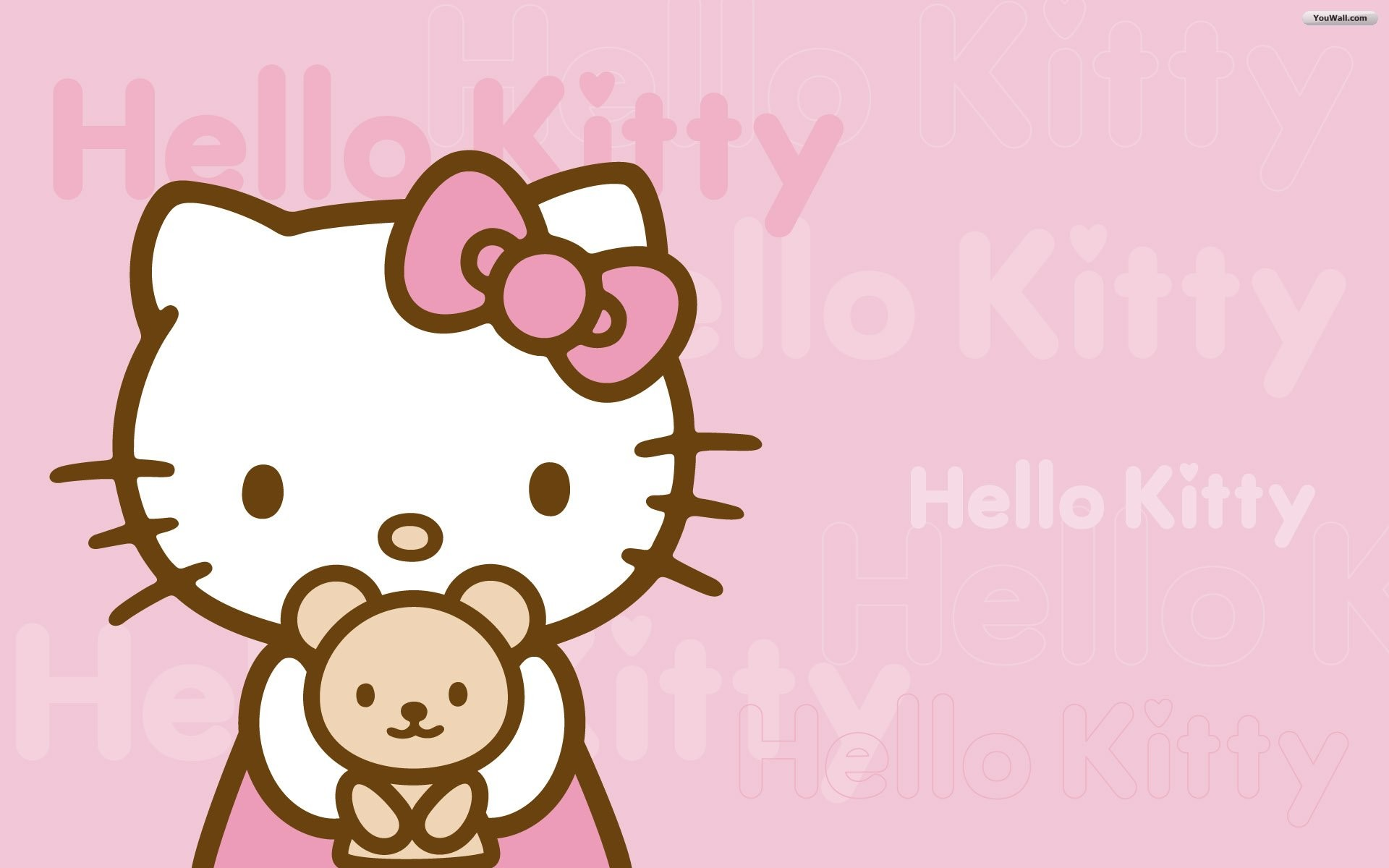 1920x1200 Pink Hello Kitty Wallpaper