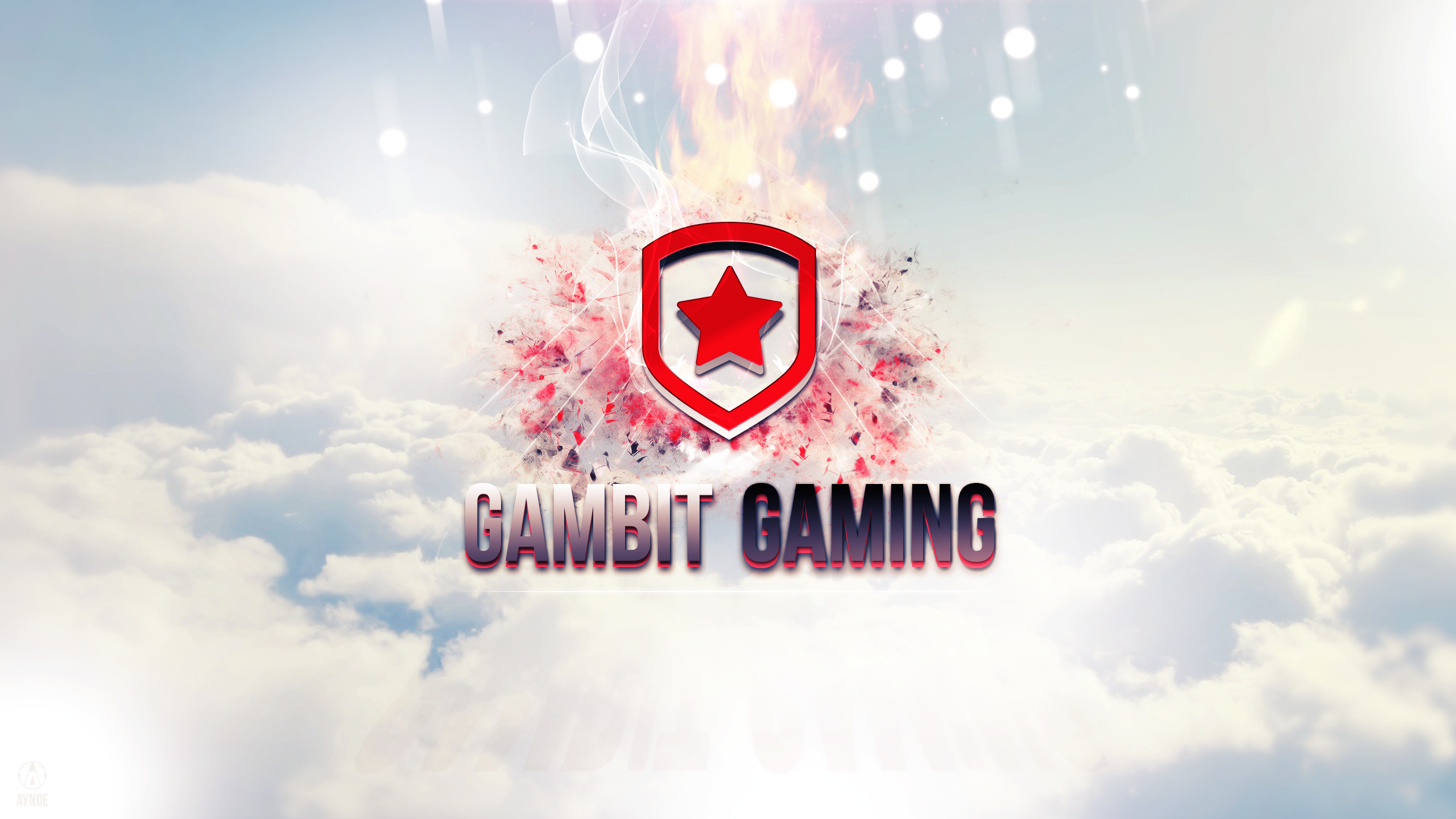 2560x1440 ... Gambit Gaming Wallpaper Logo - League of Legends by Aynoe