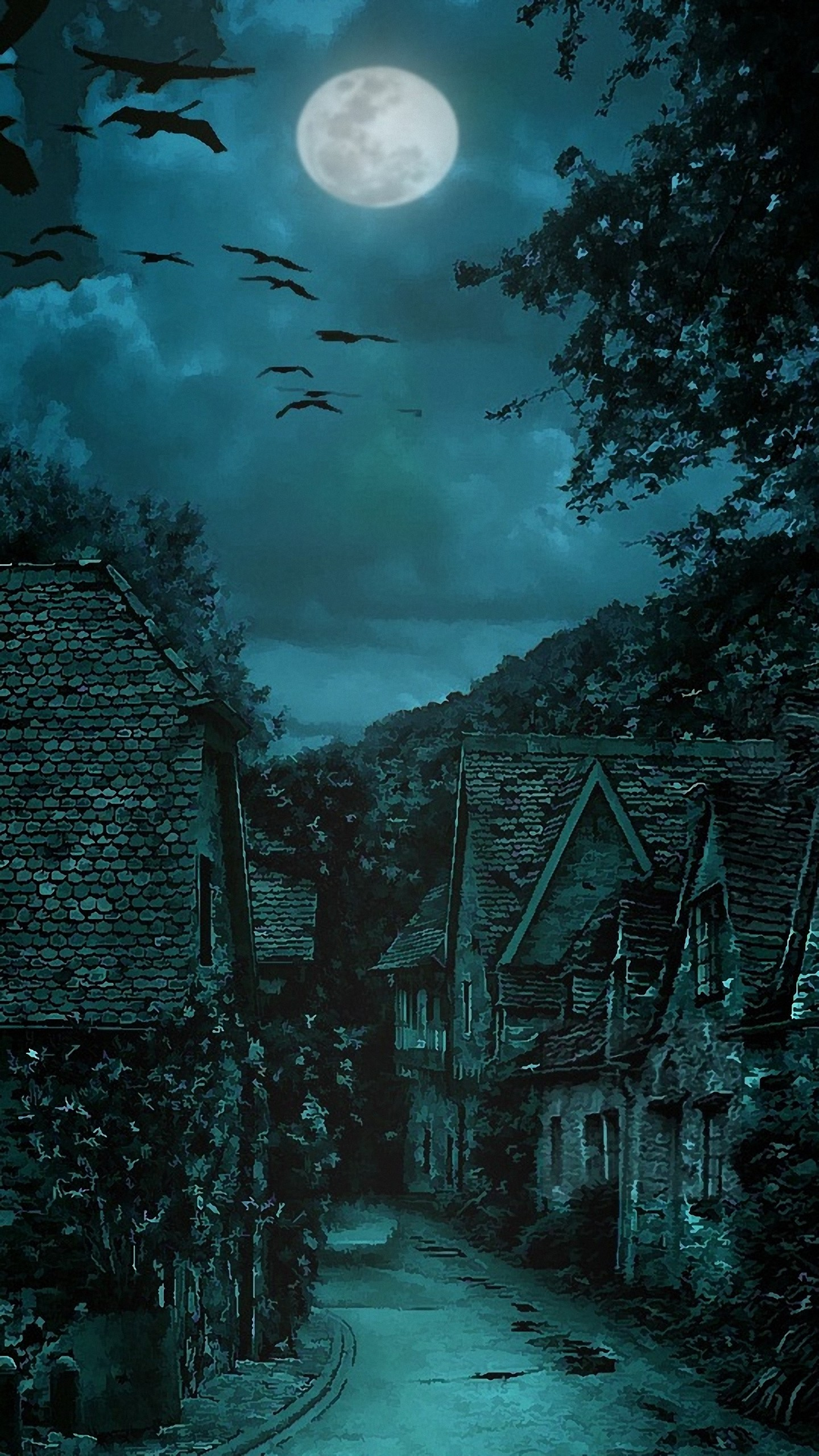 1440x2560 hd  the dark village lg g4/g5 wallpapers
