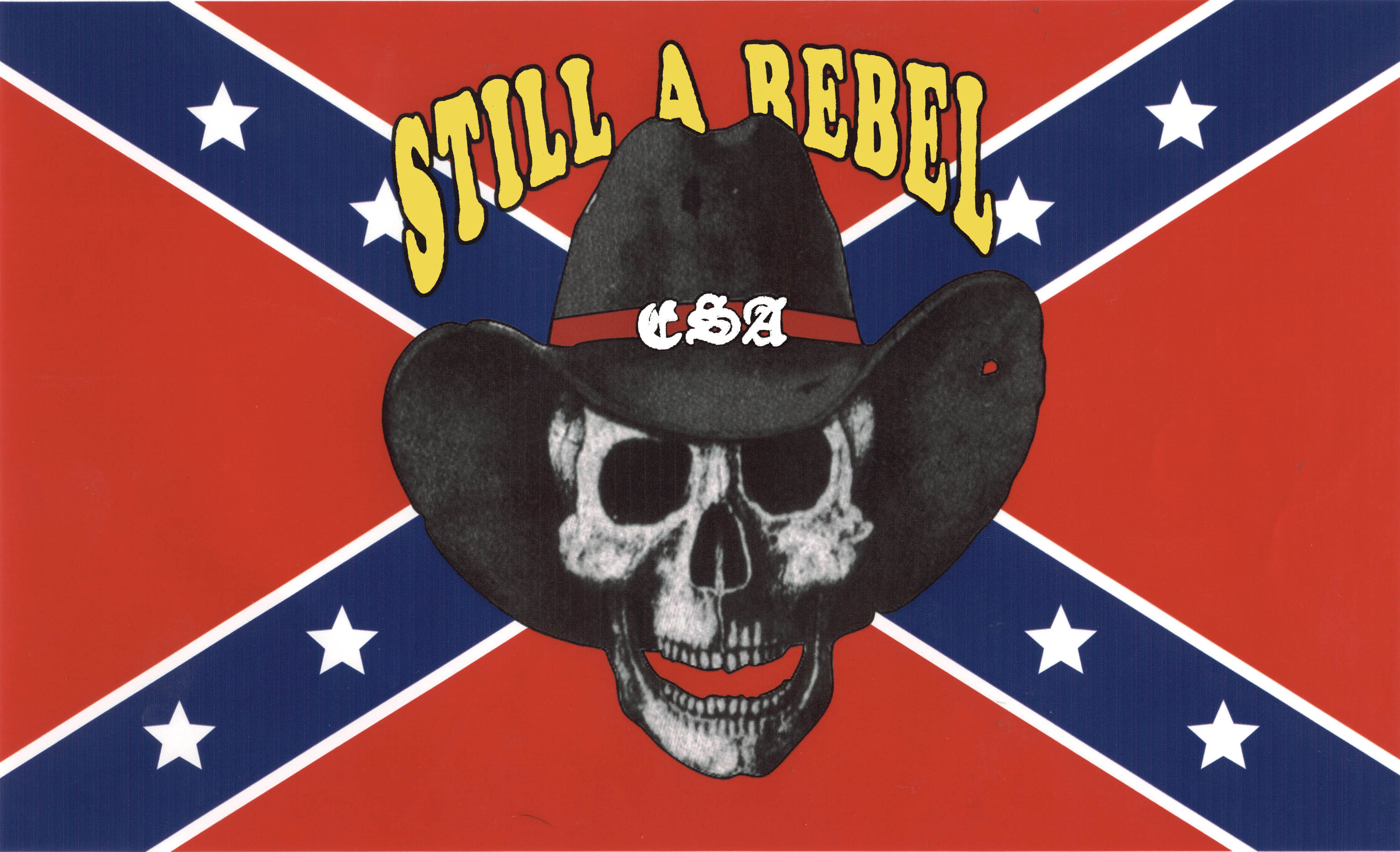 3064x1864 With Rebel Flag Confederate Flag
