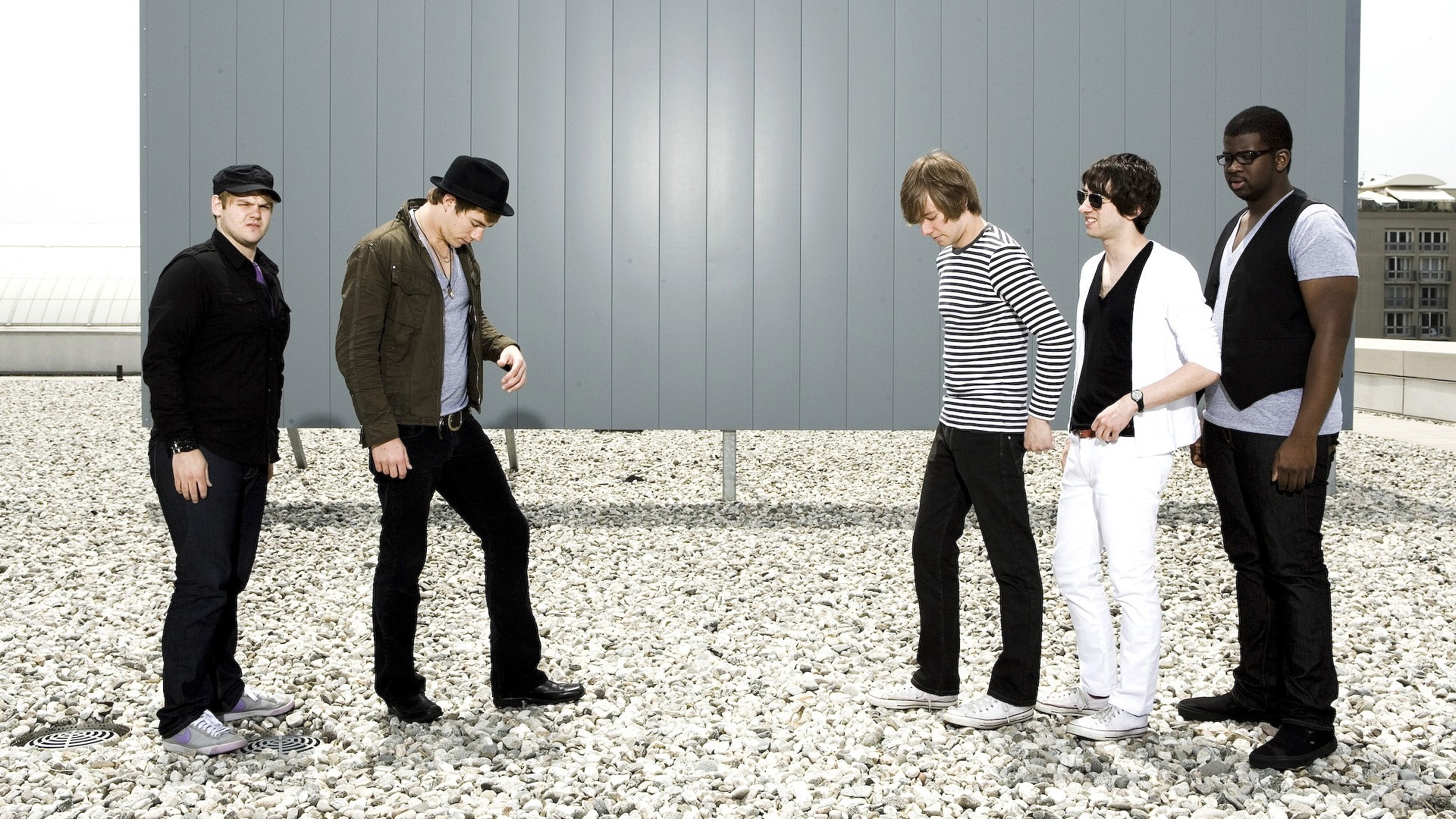 1920x1080 Preview wallpaper plain white ts, band, roof, stones, look