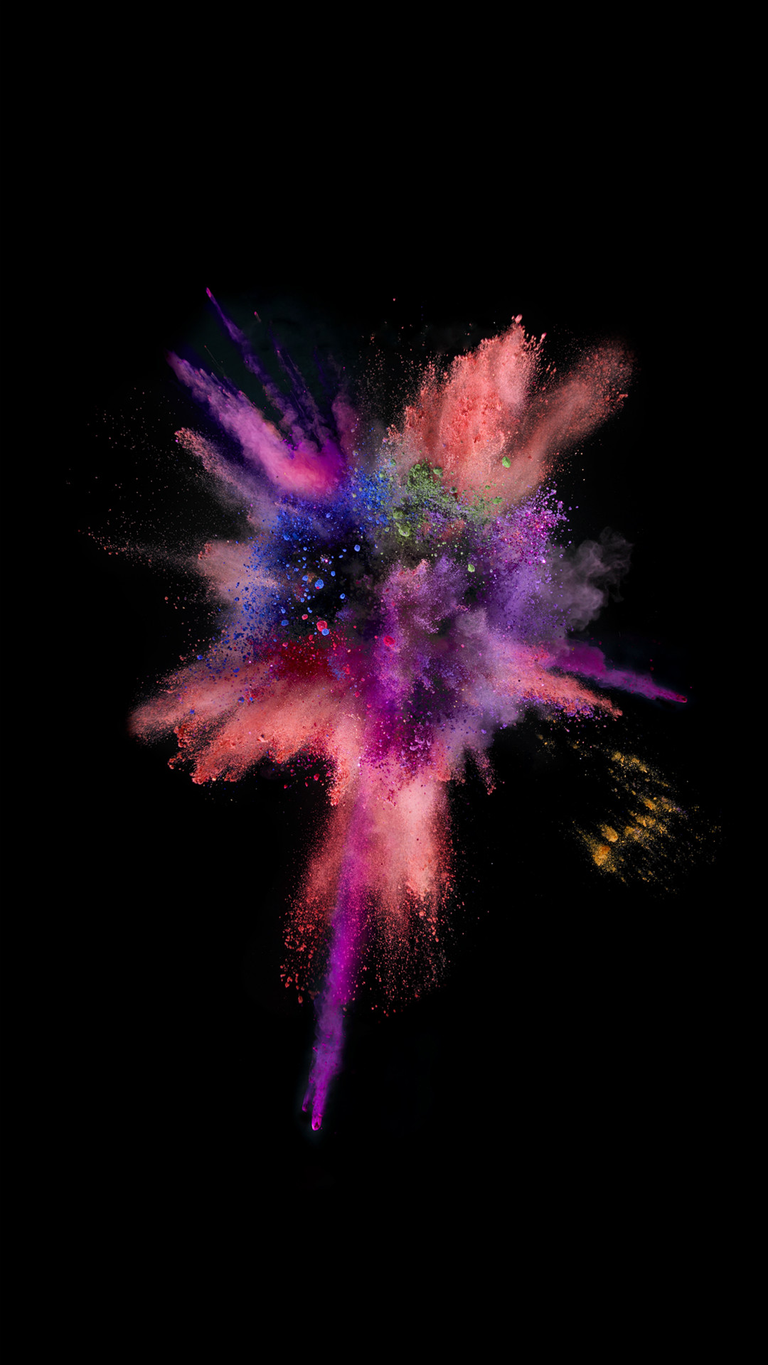 1080x1920 iOS9 Colorful Explosion Smoke Dark #iPhone #6 #wallpaper