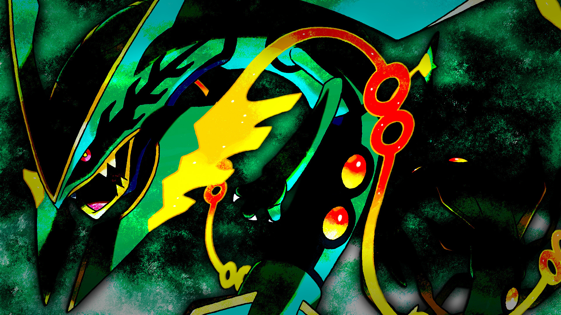 1920x1080 Shiny Mega Rayquaza Wallpaper - WallpaperSafari