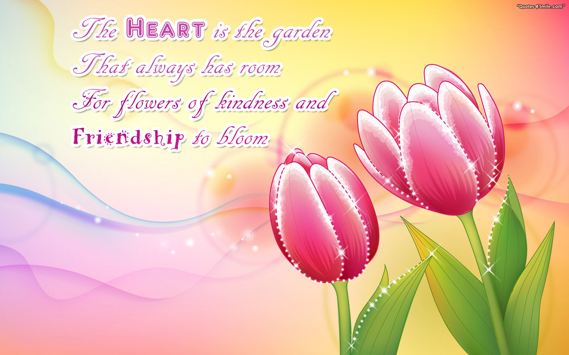 1920x1200 The Heart is The Garden – Poetry Wallpaper