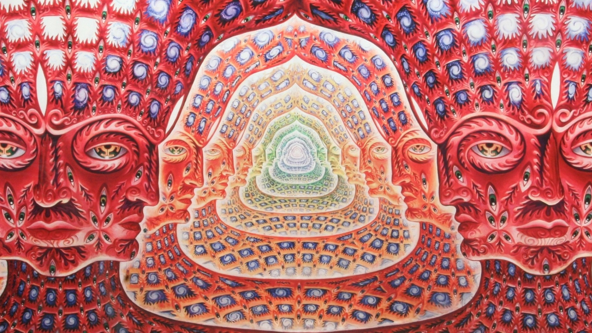 1920x1080 Wallpapers Alex Grey Tool Psychedelic Artwork Faces Panoramic .