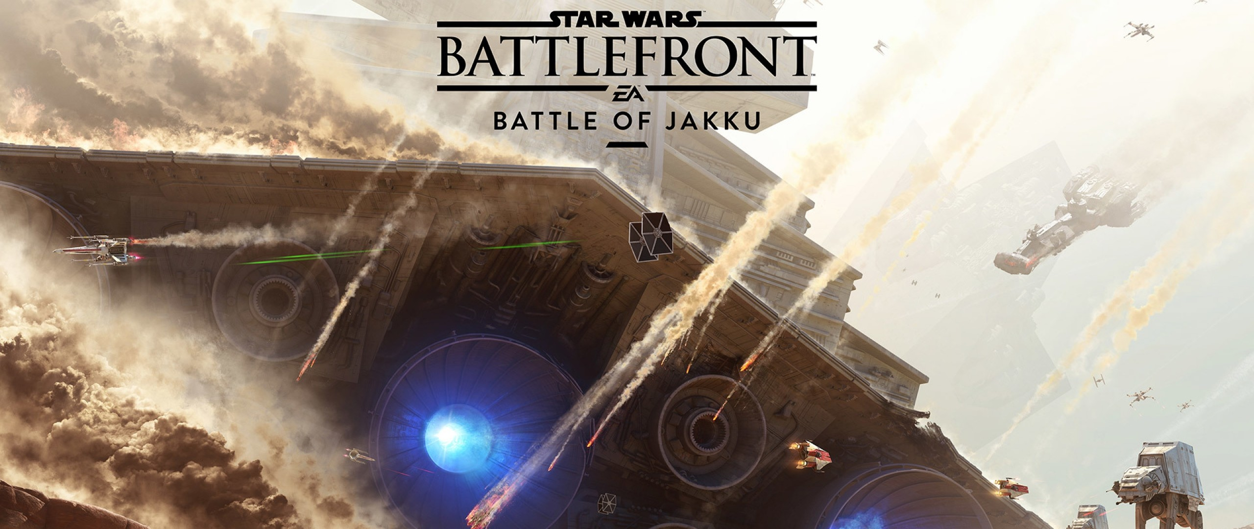 2560x1080 Preview wallpaper star wars, battlefront, battle of jakku