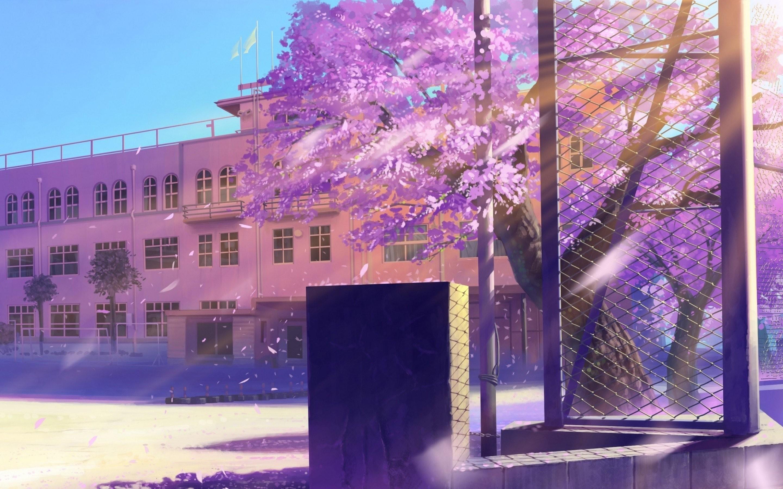 aesthetic school anime wallpaper