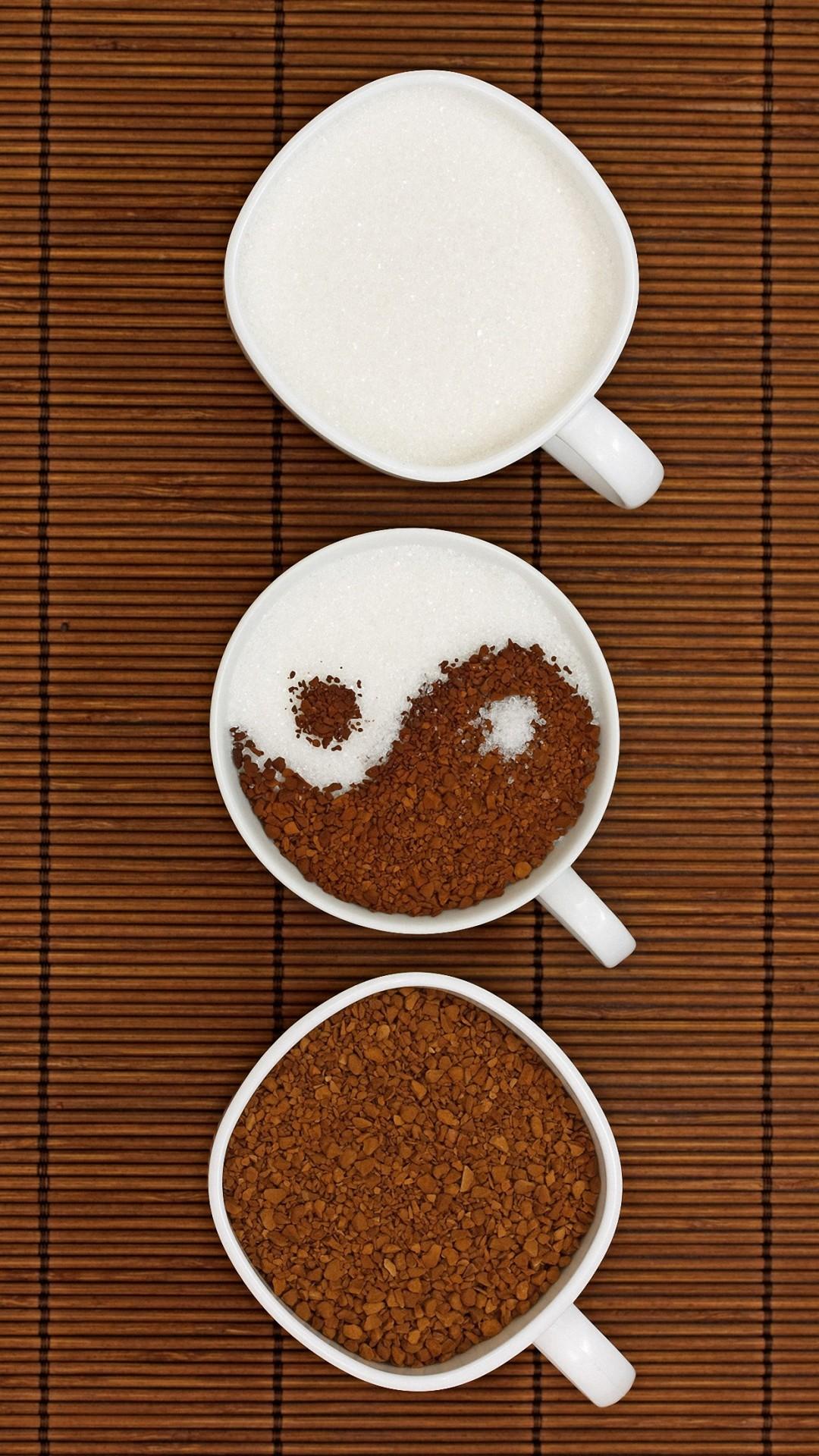 1080x1920 Cute Yin Yang Coffee Iphone 6 Wallpapers HD