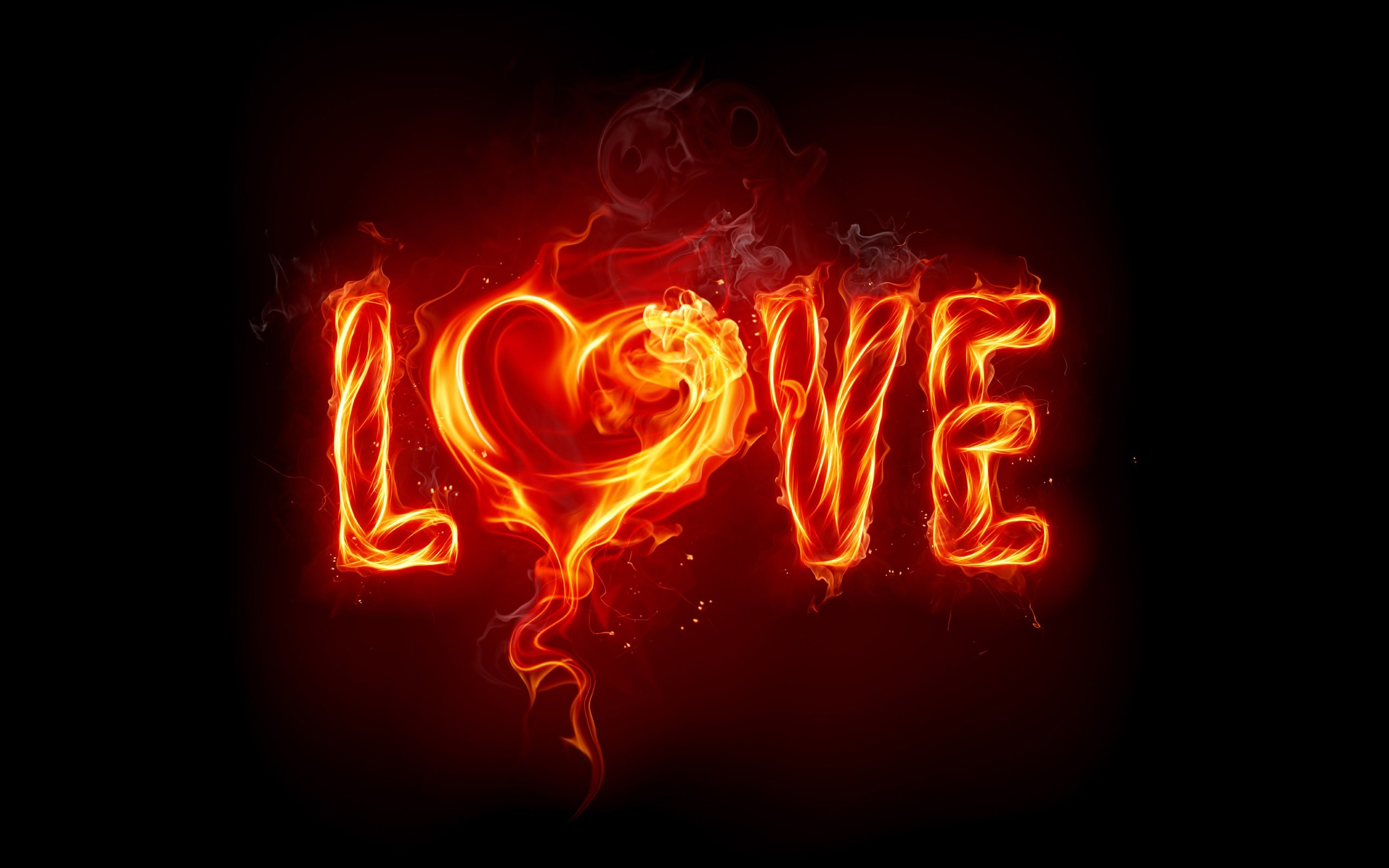2560x1600 Love Fire Wallpaper Valentines Day Holidays