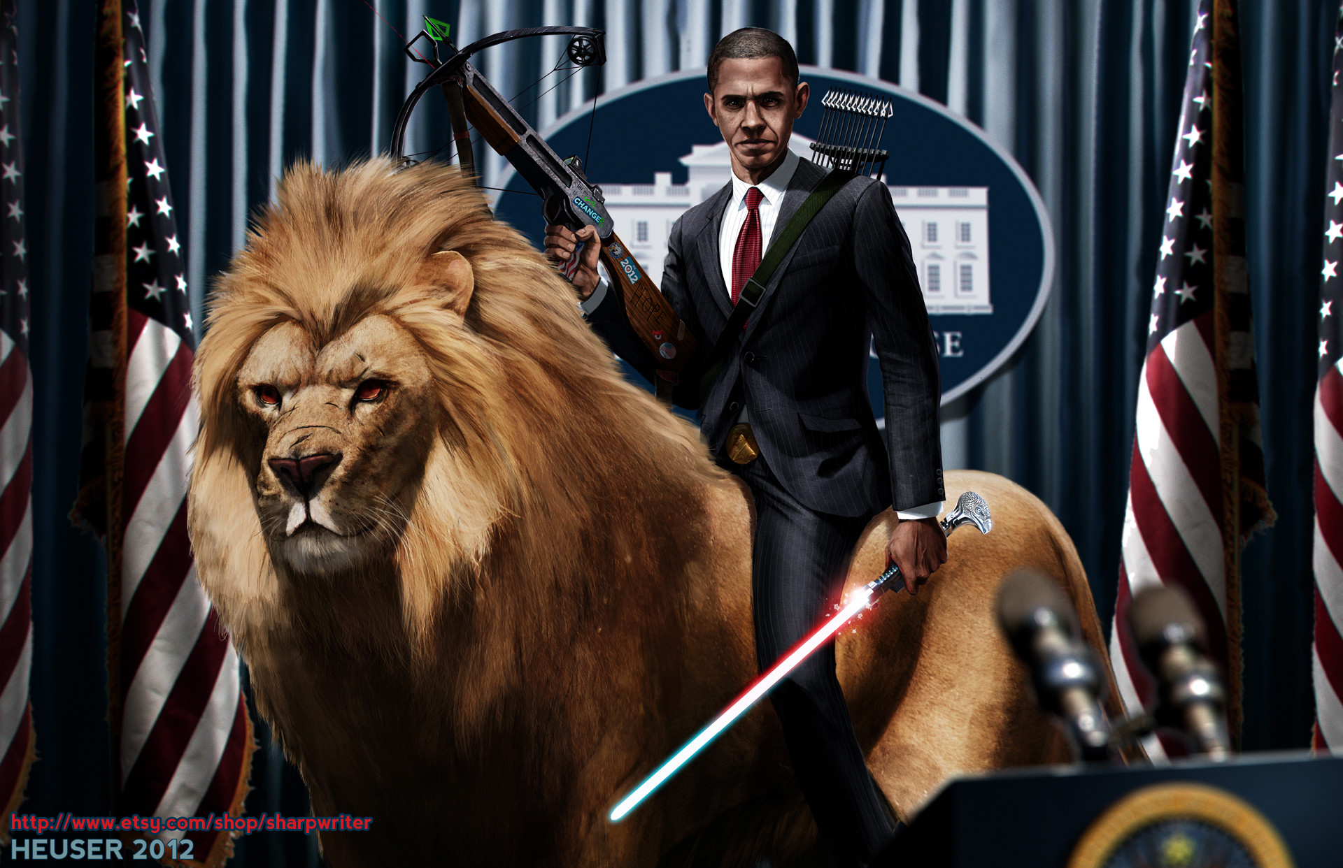 1920x1242 Obama funny political politics cat lion creative wallpaper |  |  136580 | WallpaperUP