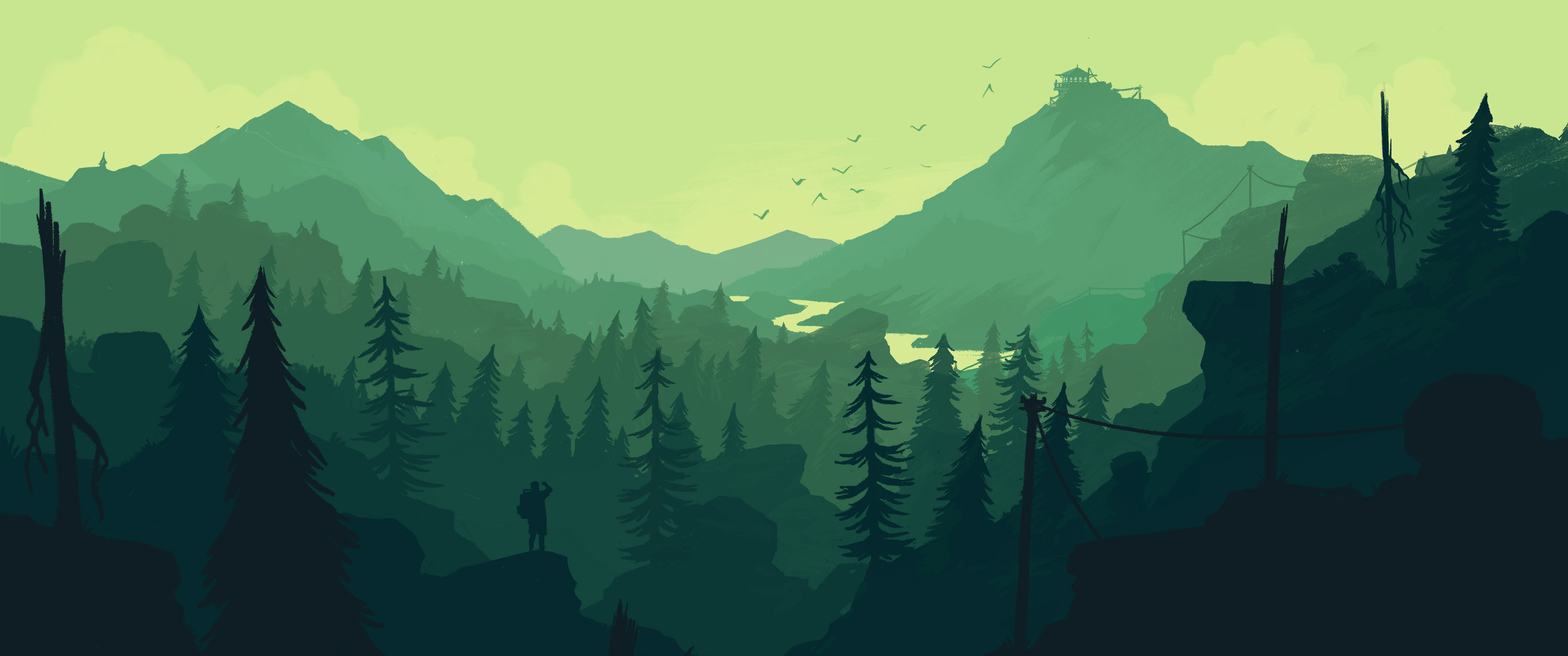 3440x1440 HD Wallpaper | Background ID:681136.  Video Game Firewatch
