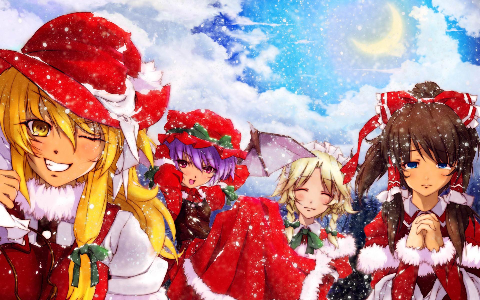 Anime christmas wallpaper hd 70 images - Anime backdrop wallpaper ...