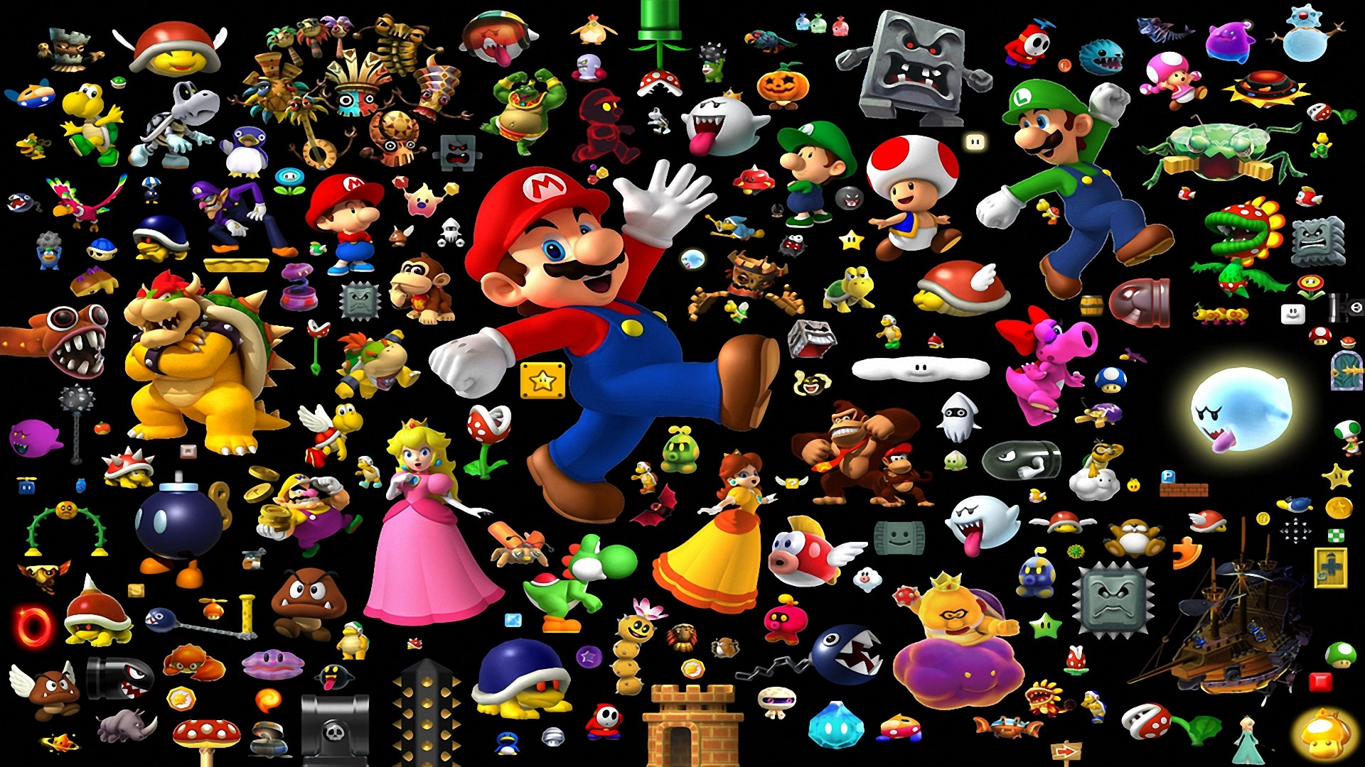 1920x1080 Video Game - Super Mario All-Stars + Super Mario World Wallpaper