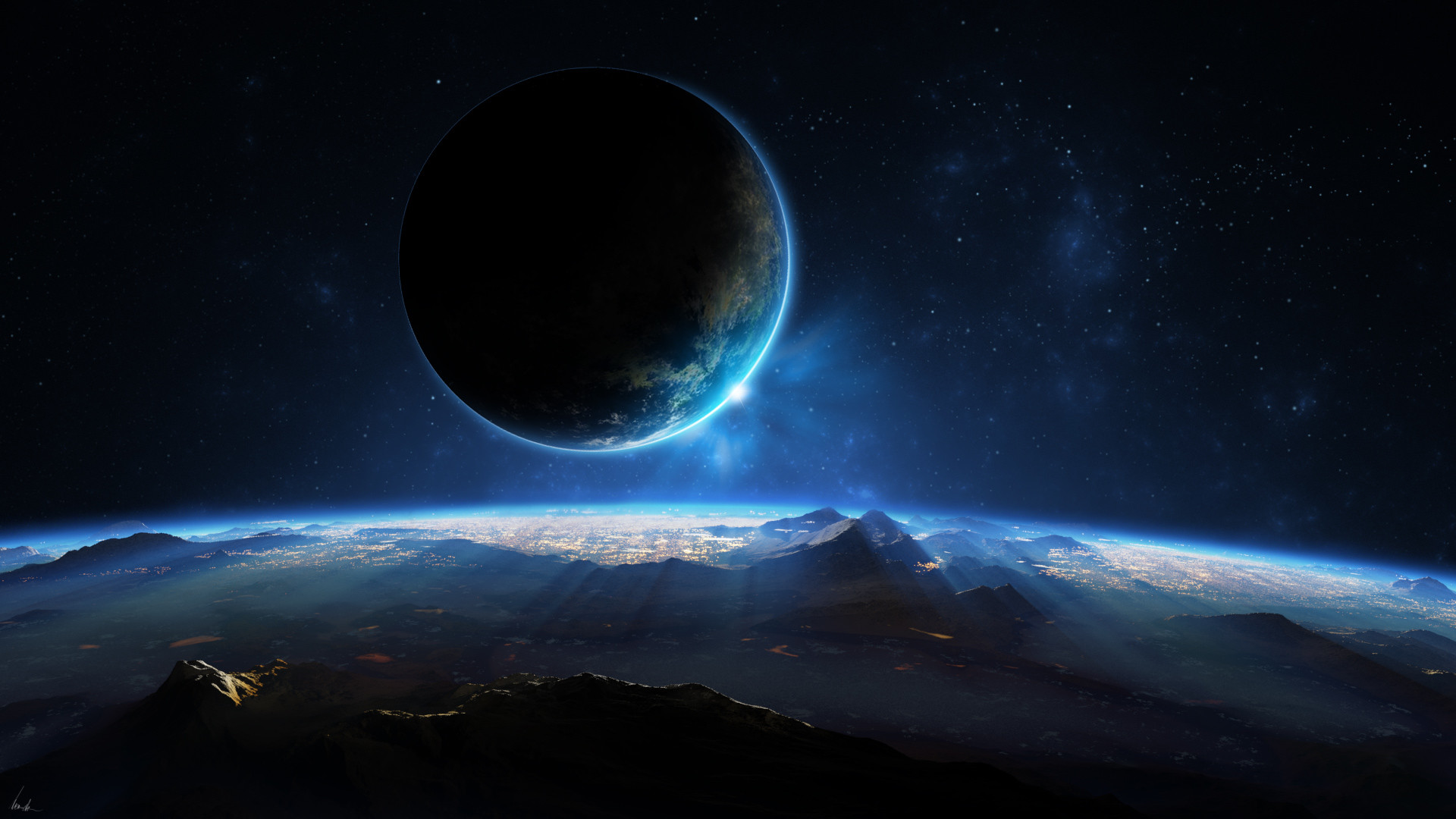 1920x1080 Distant Planet 3D Wallpapers HD Wallpapers