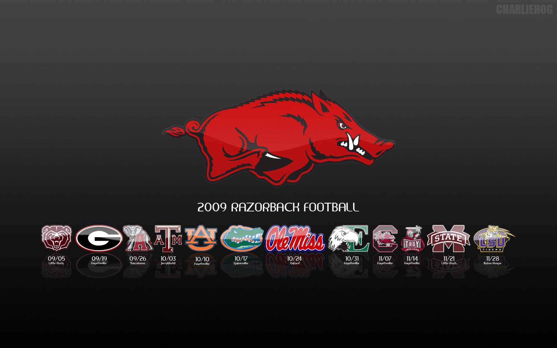 1920x1200 Arkansas Razorback Schedule by peacekid ...