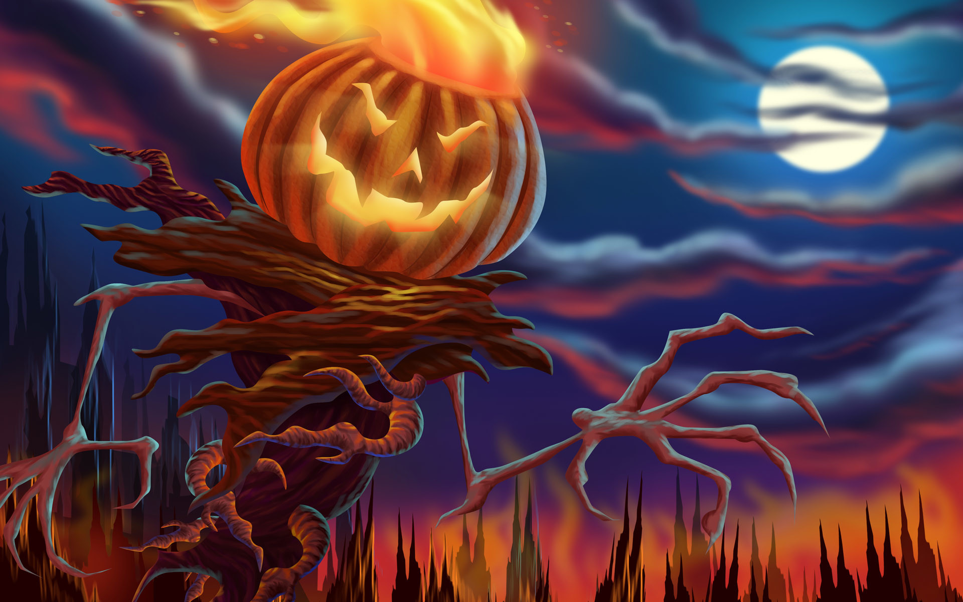 1920x1200 halloween wallpapers scary hd. Â«Â«