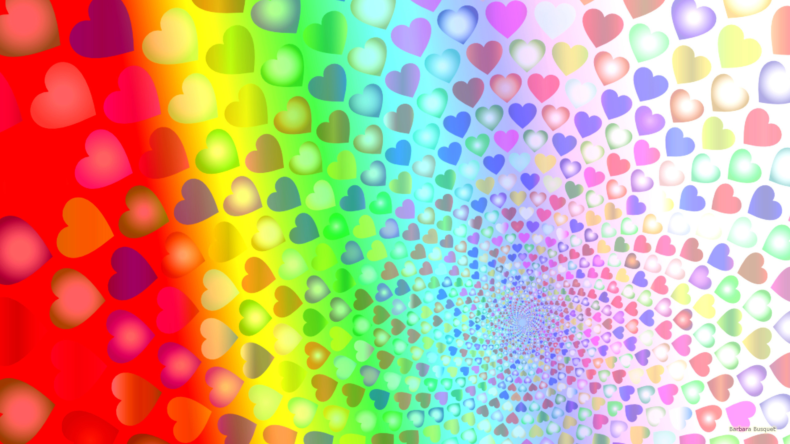 3840x2160 Tags Love Hearts Colorful