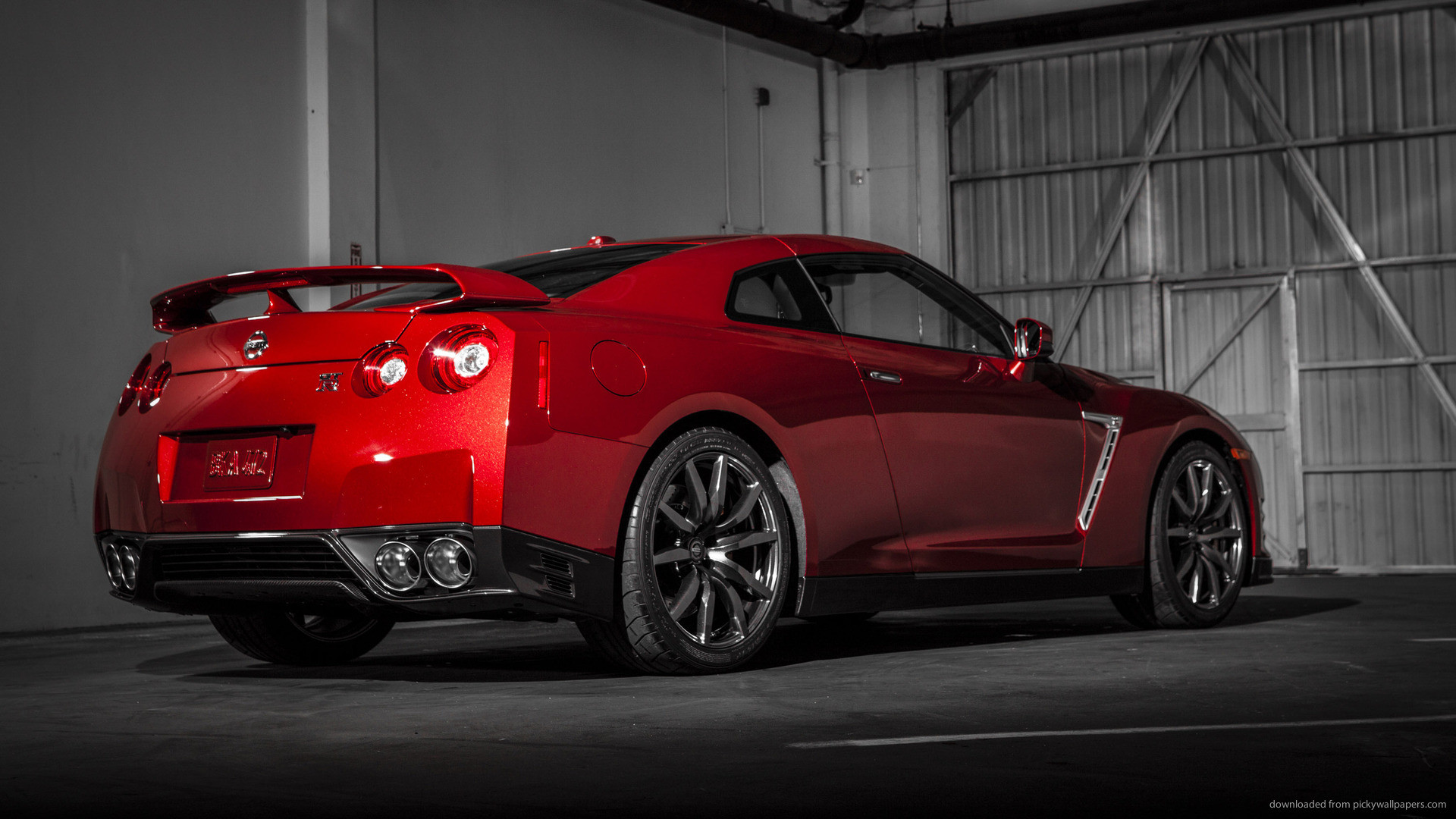 1920x1080 Nissan GT R R35 Red Supercar At Sunset 4k HD Wallpaper