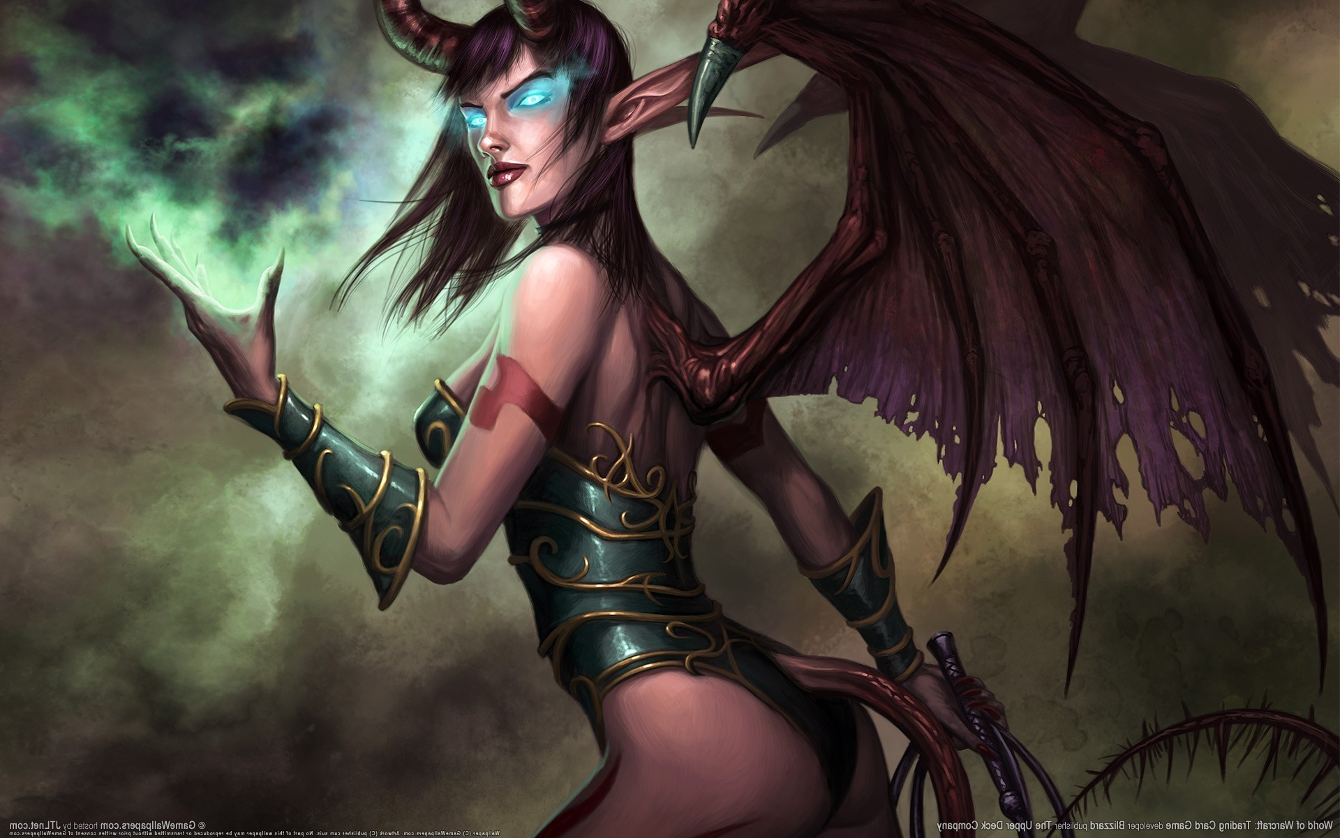 1920x1200 realistic, World Of Warcraft, Demon, Blue Eyes, Succubus Wallpapers HD /  Desktop and Mobile Backgrounds