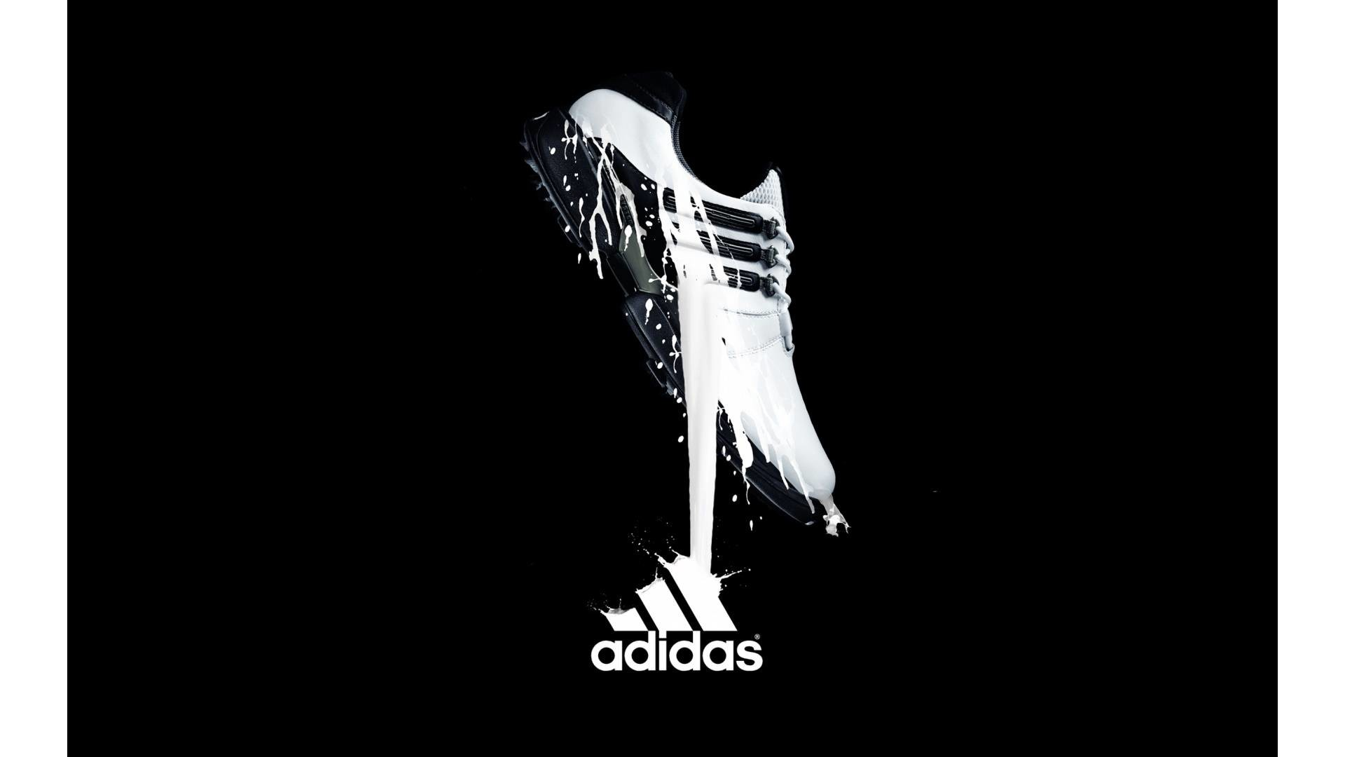 1920x1080 New HD Adidas Shoes With Logo Wallpaper