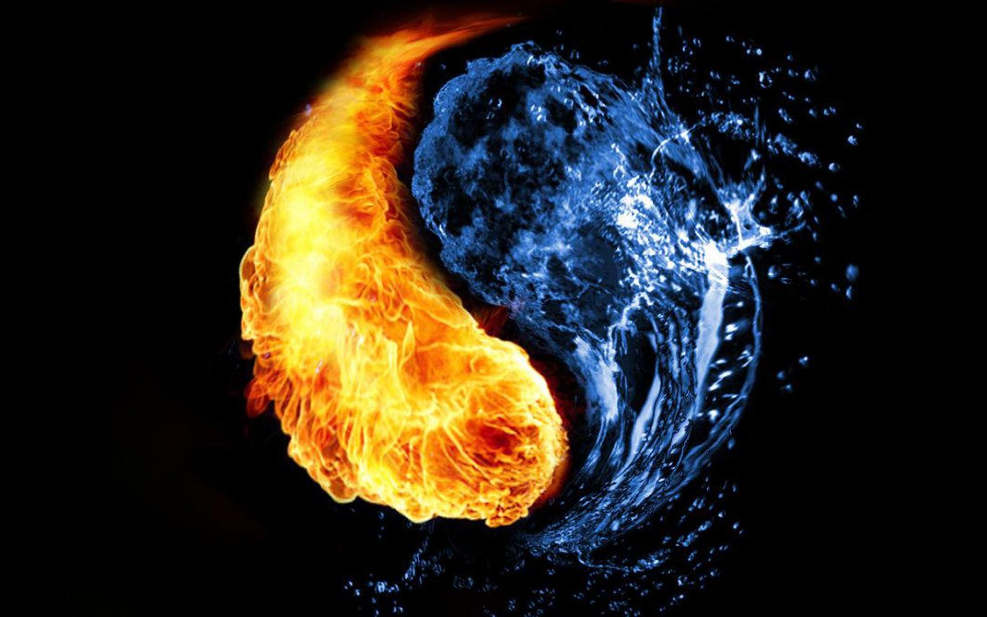 1920x1200 Fire And Ice Yin Yang