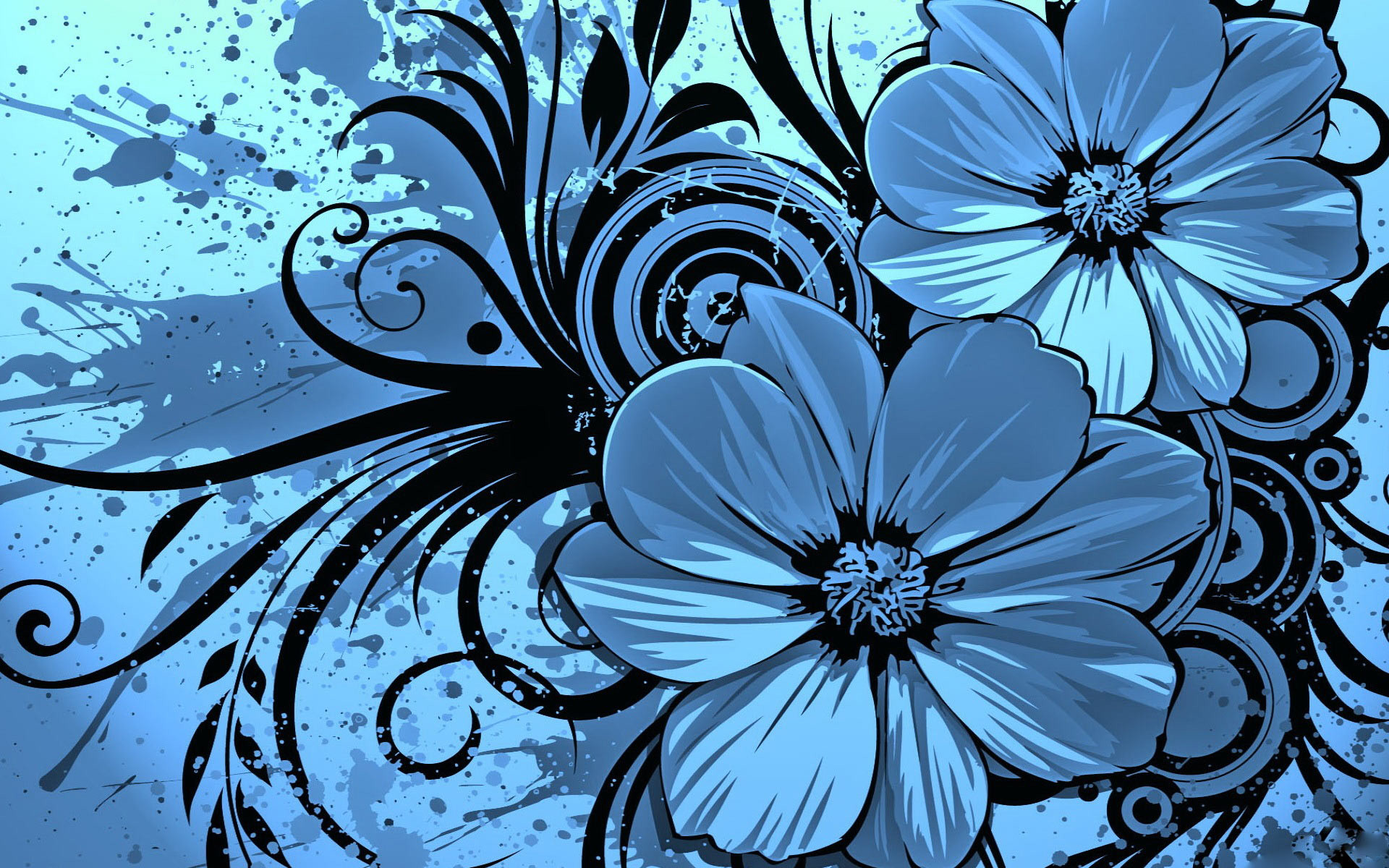 1920x1200 Blue Flowers Background 13 Desktop Wallpaper