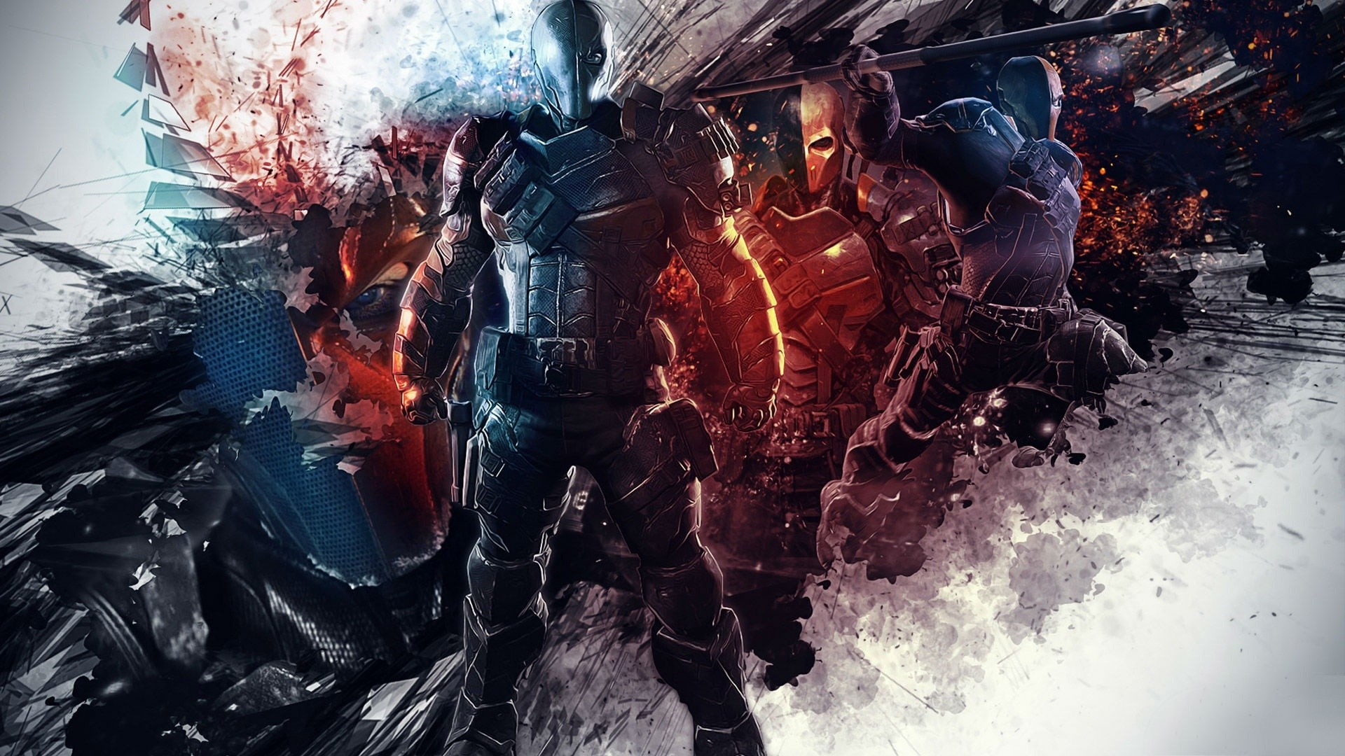 1920x1080 Batman Arkham Origins DeathStroke Wallpaper by TheSyanArt
