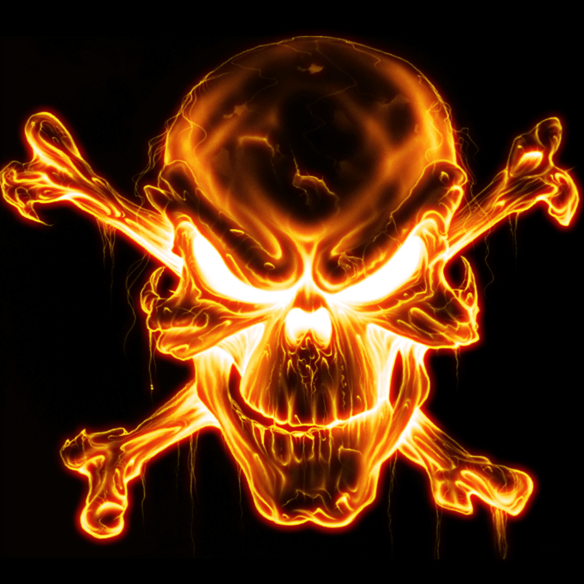 Blue Fire Skull Wallpaper (58+ Images