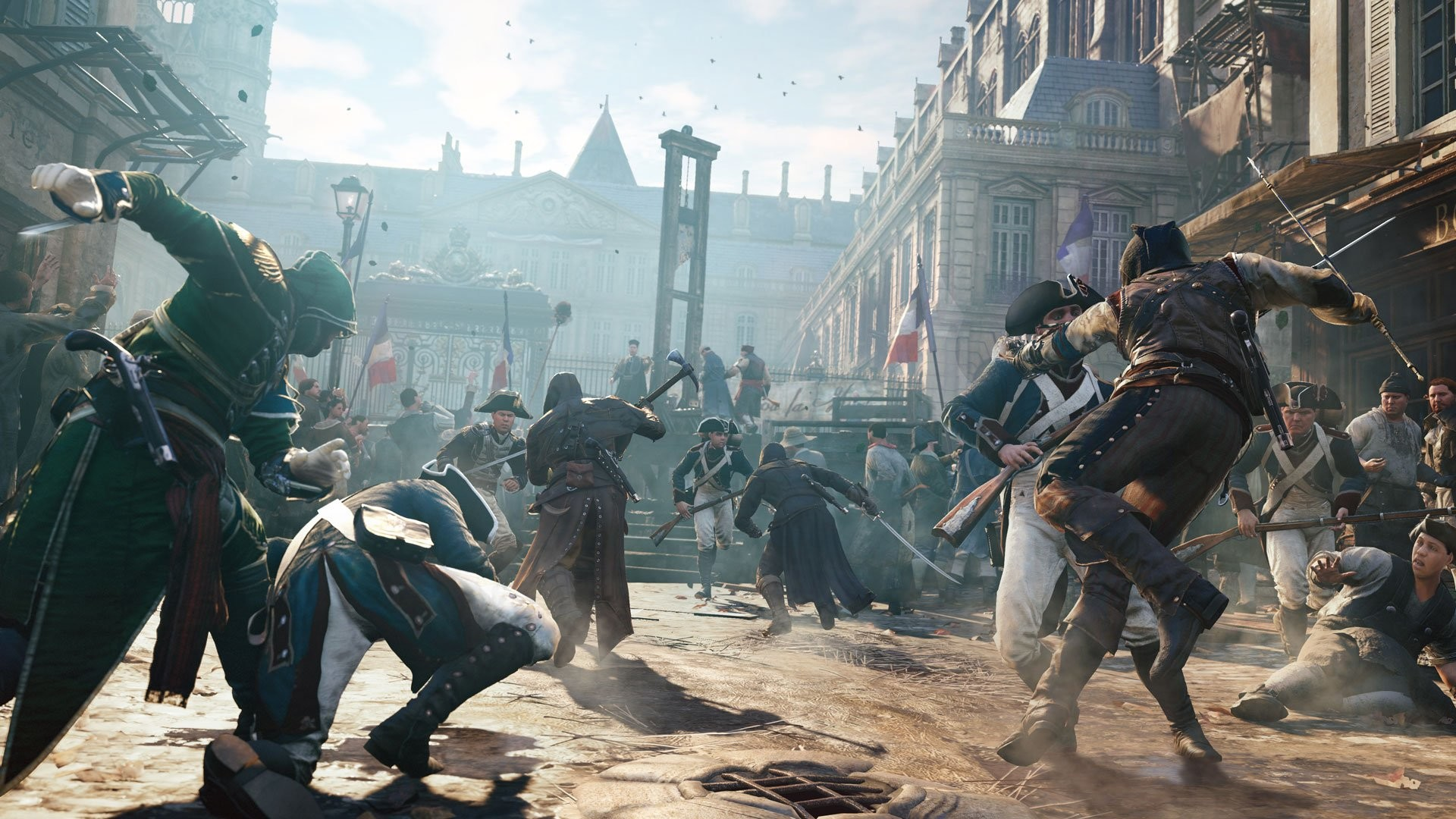 1920x1080 Assassin's Creed Unity wowed us at this year's E3 for extensive interior  environments, a massive-looking map, and some innovative new cooperative  gameplay ...