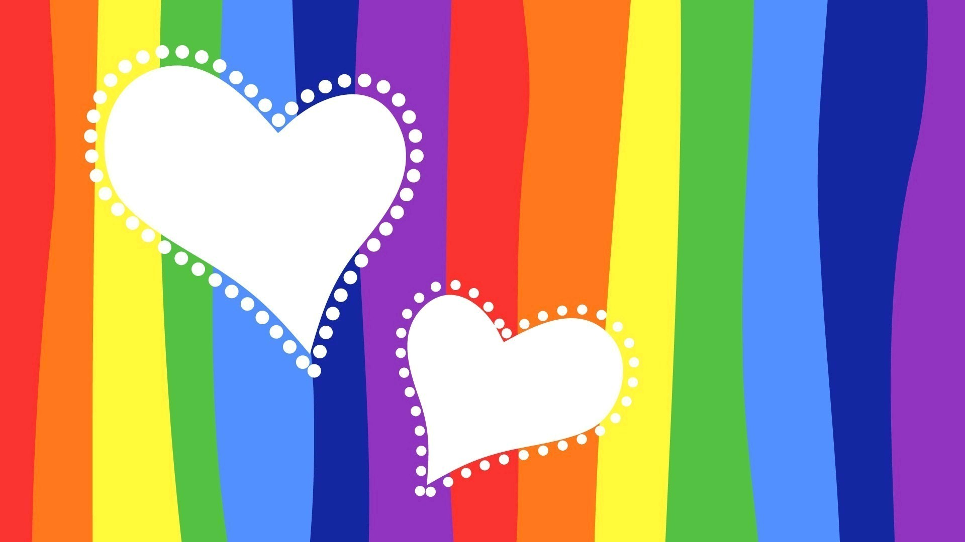1920x1080 Love Heart Wallpapers. Previous Wallpaper · Two Hearts in Rainbow Background
