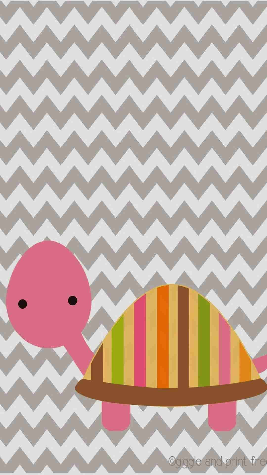 1080x1920 DIY Cute Pink Tortoise Pattern Chevron iPhone 6 Plus Wallpaper - Zigzag  Pattern #iPhone #