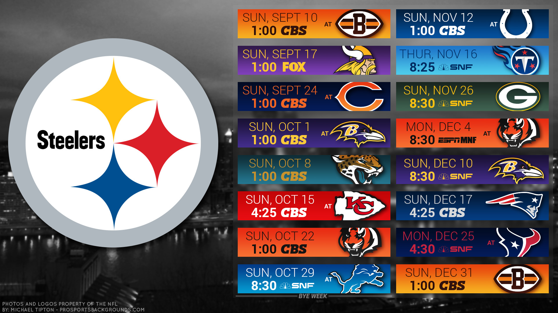 1920x1080 Pittsburgh Steelers 2017 Schedule City Football Logo Wallpaper Free Pc Desktop Computer