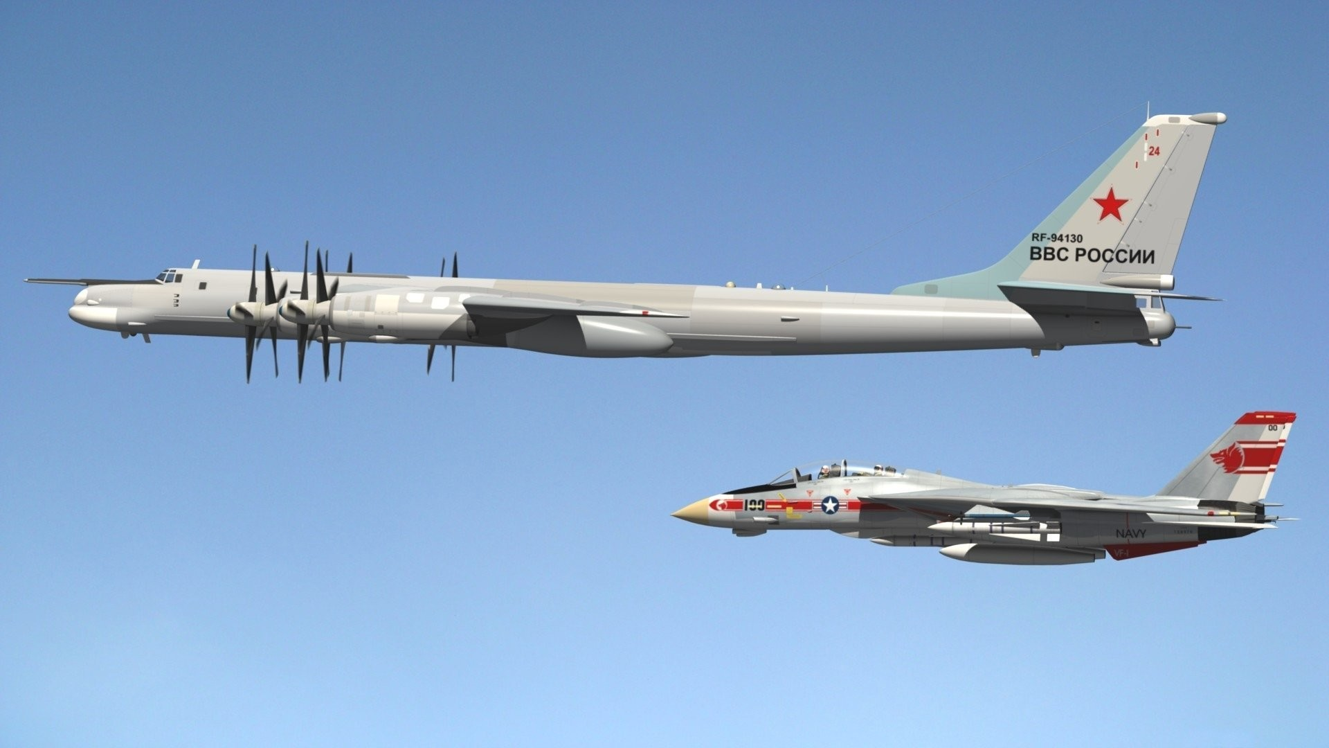1920x1080 tu- 95 turboprop strategic bomber missile grumman f-14 tomcat. Share the  image