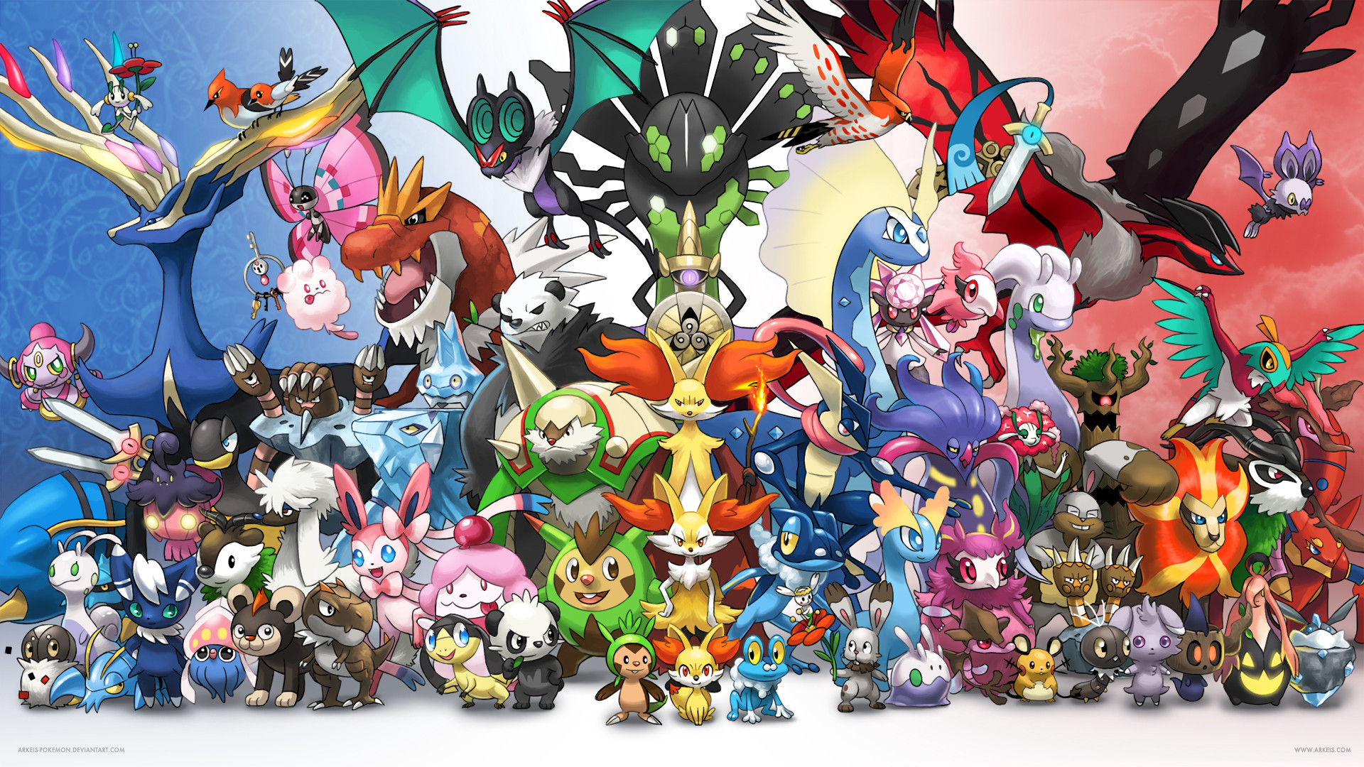 1920x1080 All Legendary Pokemon Wallpaper