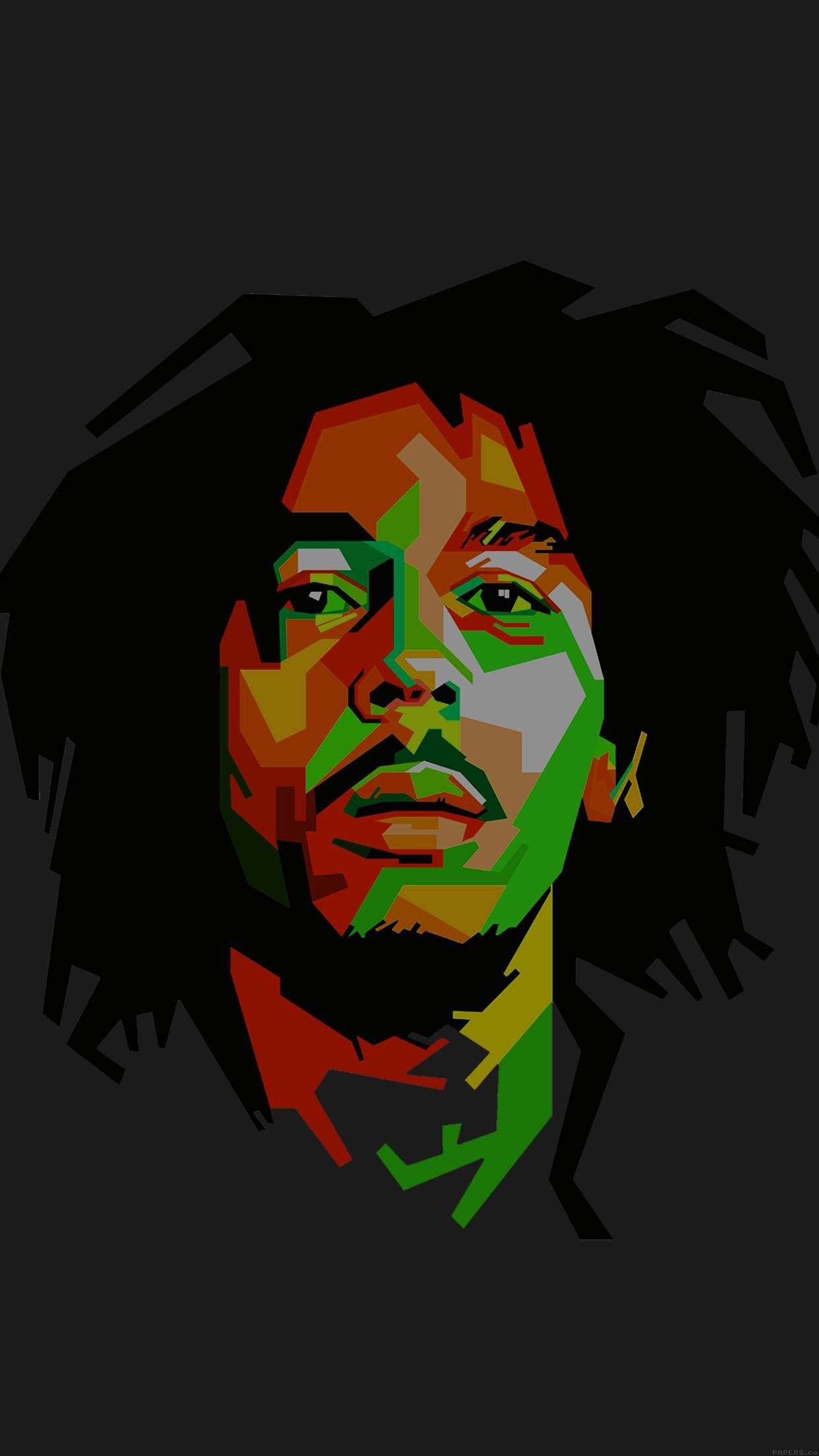 1242x2208 Bob Marley Dark Art Illust Music Reggae Celebrity
