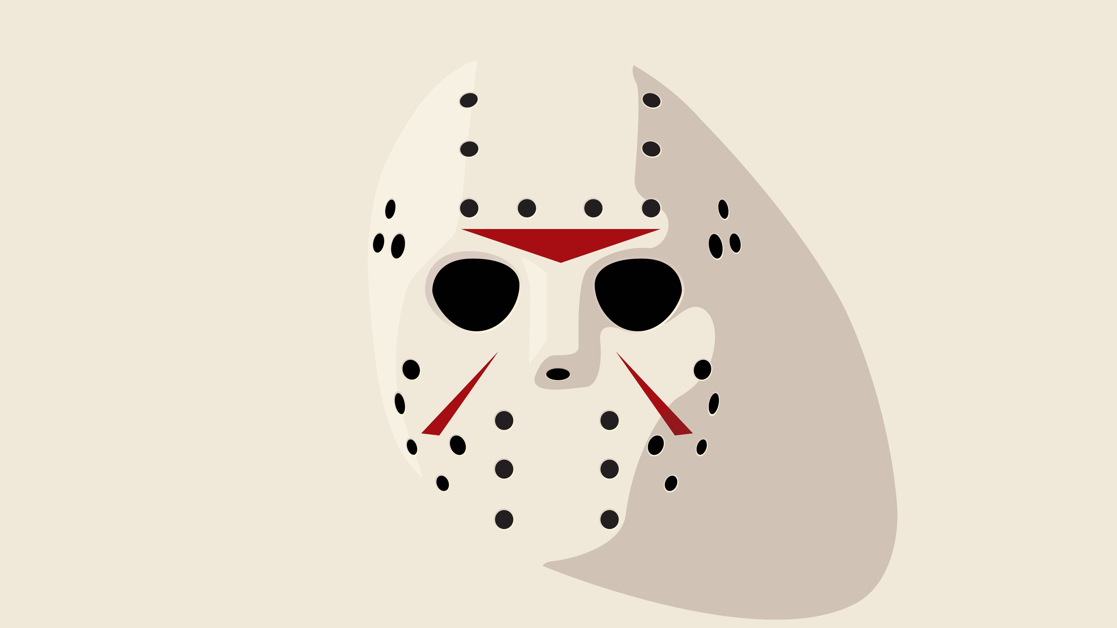 3840x2160 Preview wallpaper jason, friday 13th, hockey mask