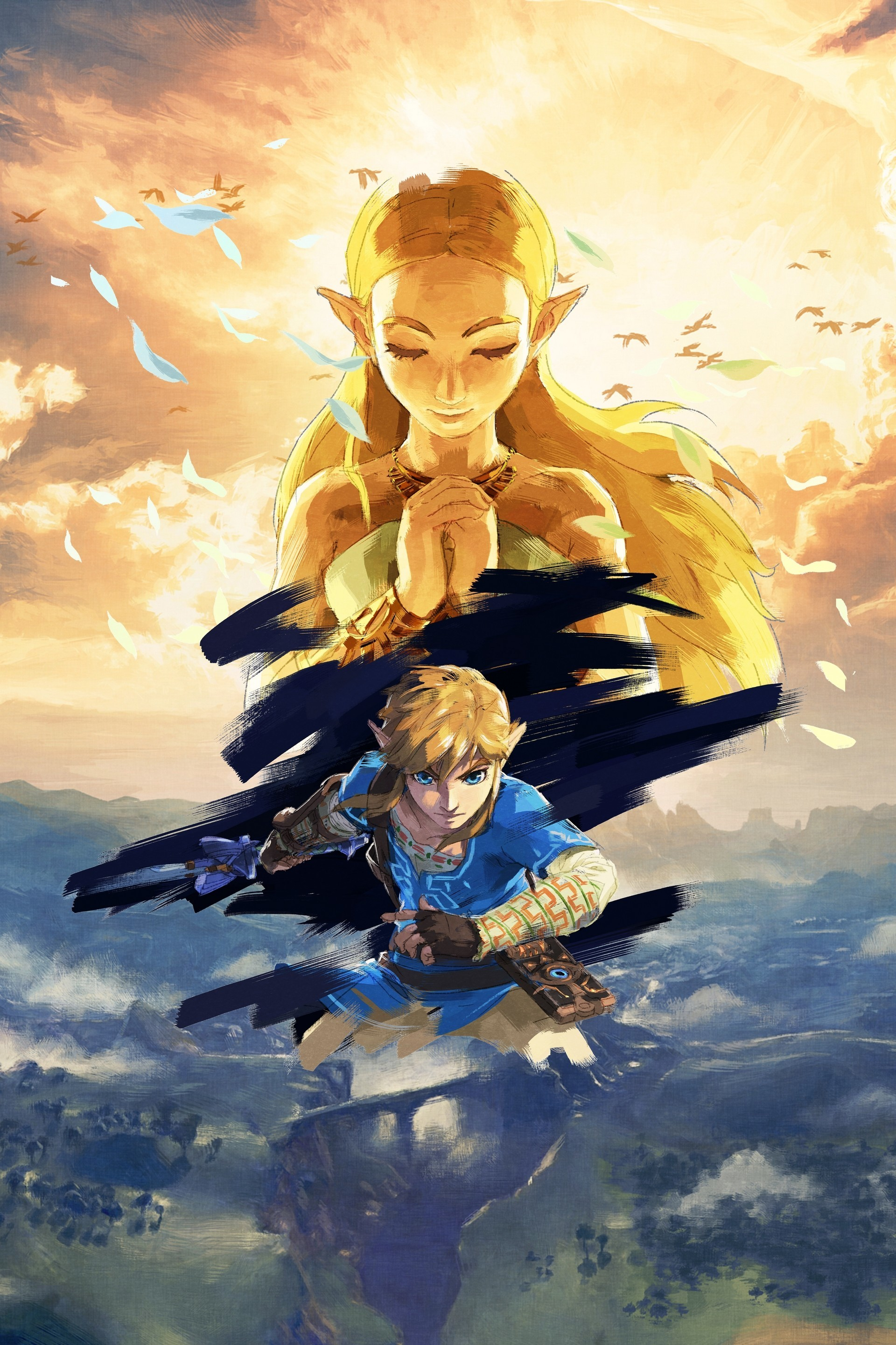 1920x2880  The Legend of Zelda : Breath of the Wild - Full HD art no logo