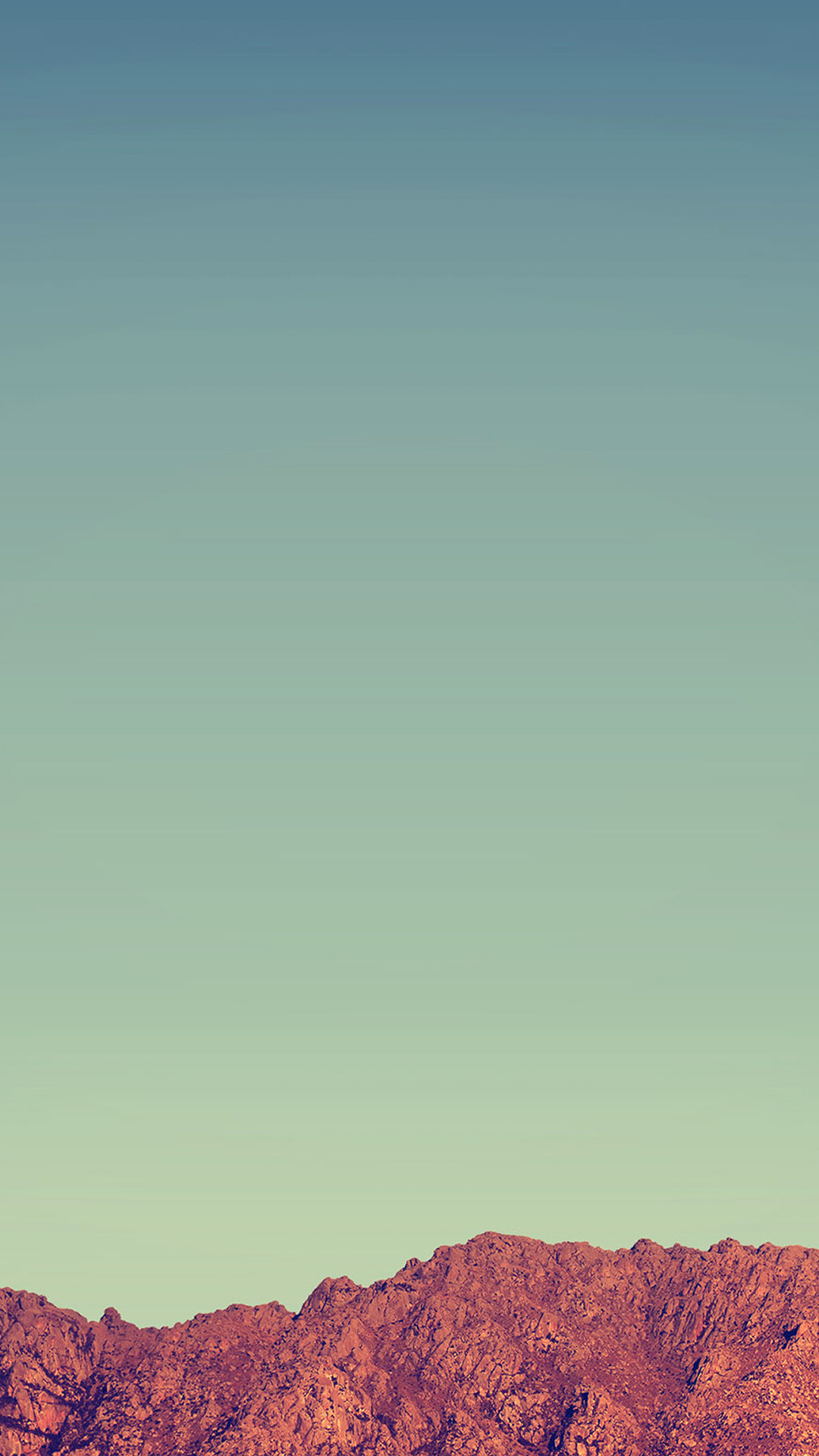 1080x1920 Pure Minimal Rock Mountain Blue Sky #iPhone #7 #wallpaper