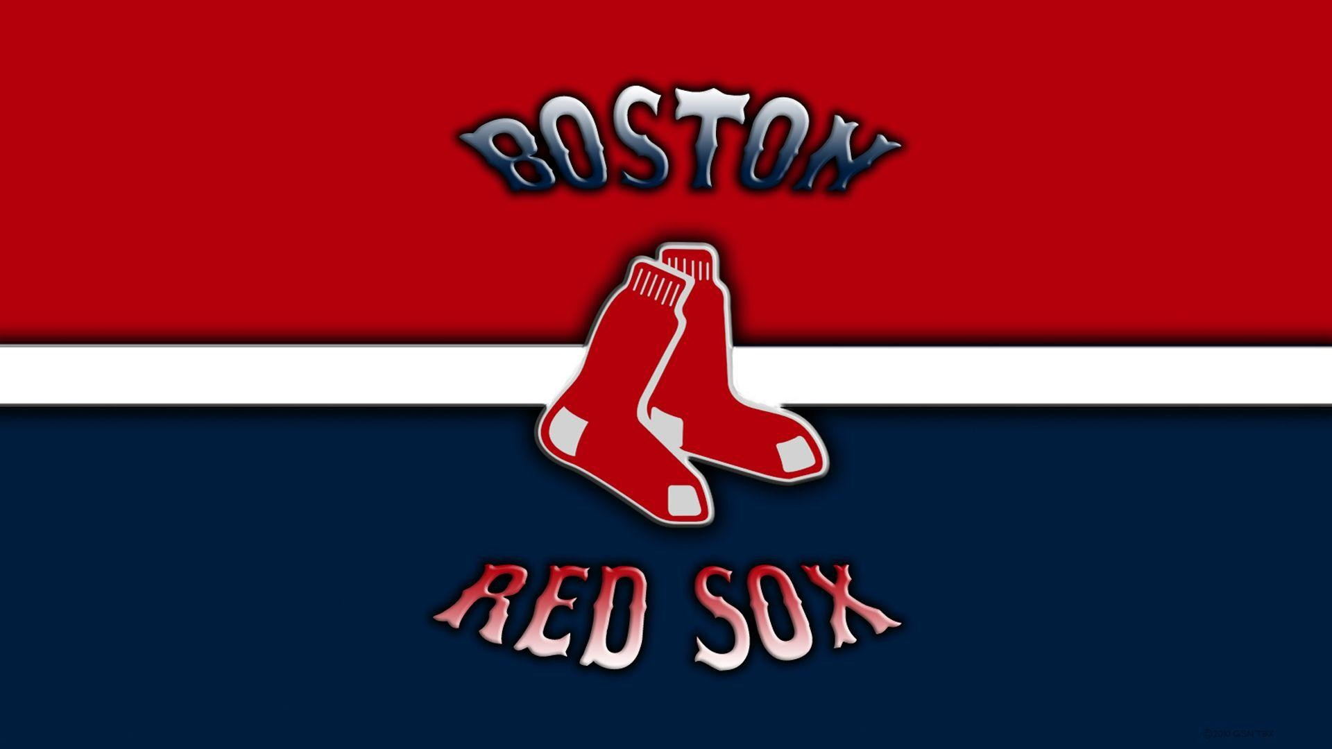 1920x1080 Boston Red Sox Logo On Wood IPhone Wallpaper
