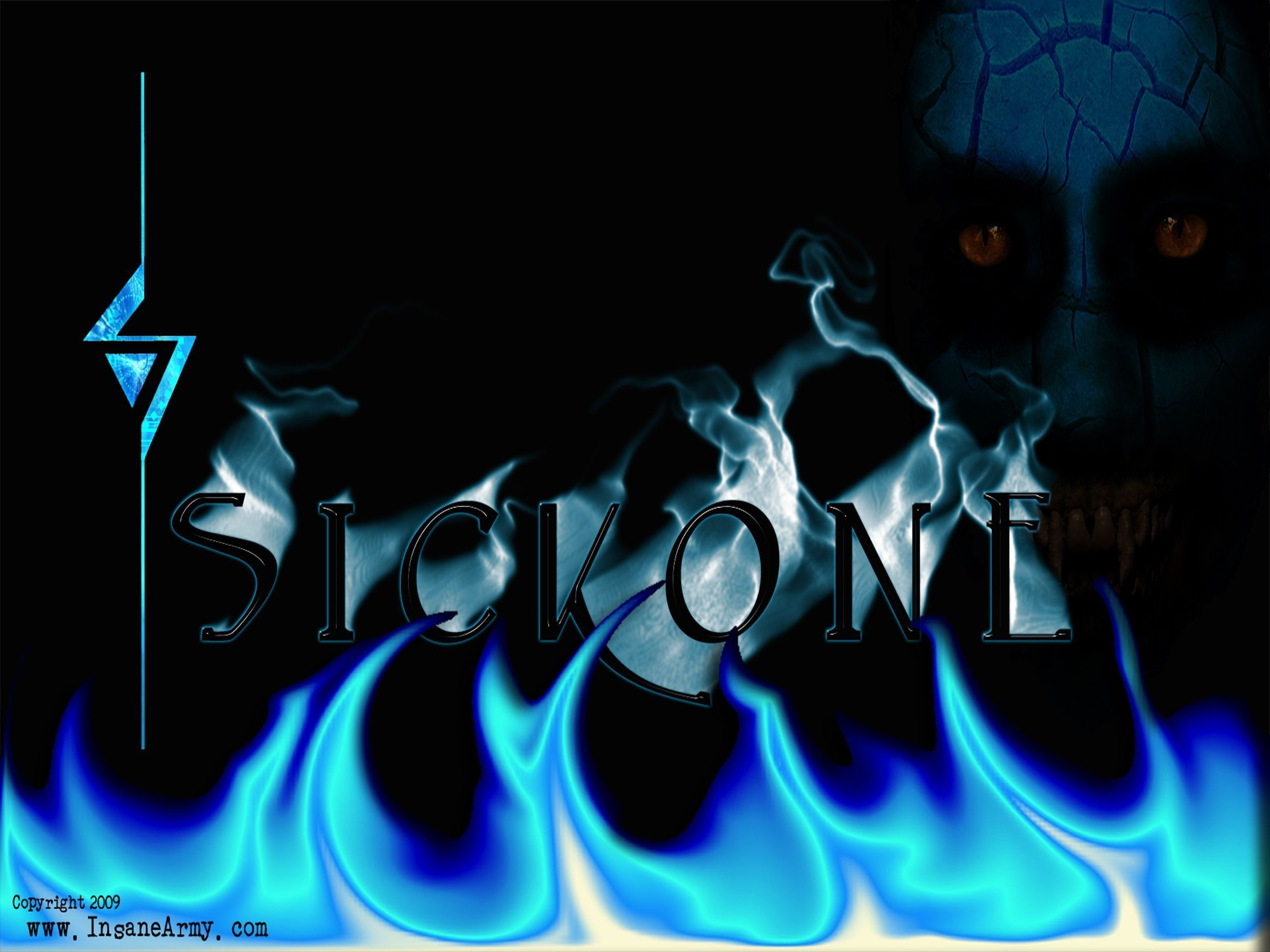 2560x1920  SickonE Blue Flame Insane Army desktop PC and Mac wallpaper