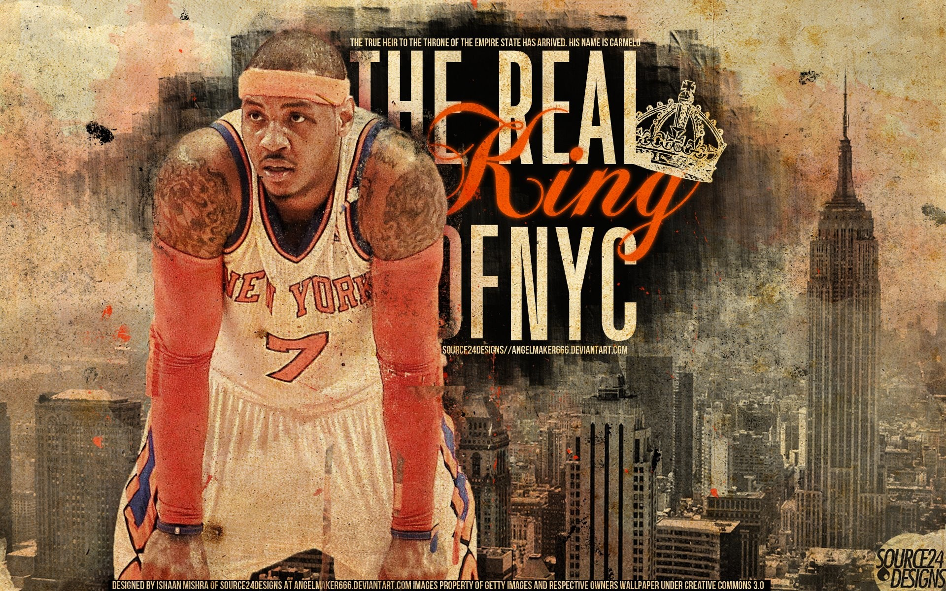 1920x1200 ... Carmelo Anthony Game Winner Knicks Wallpaper by IshaanMishra